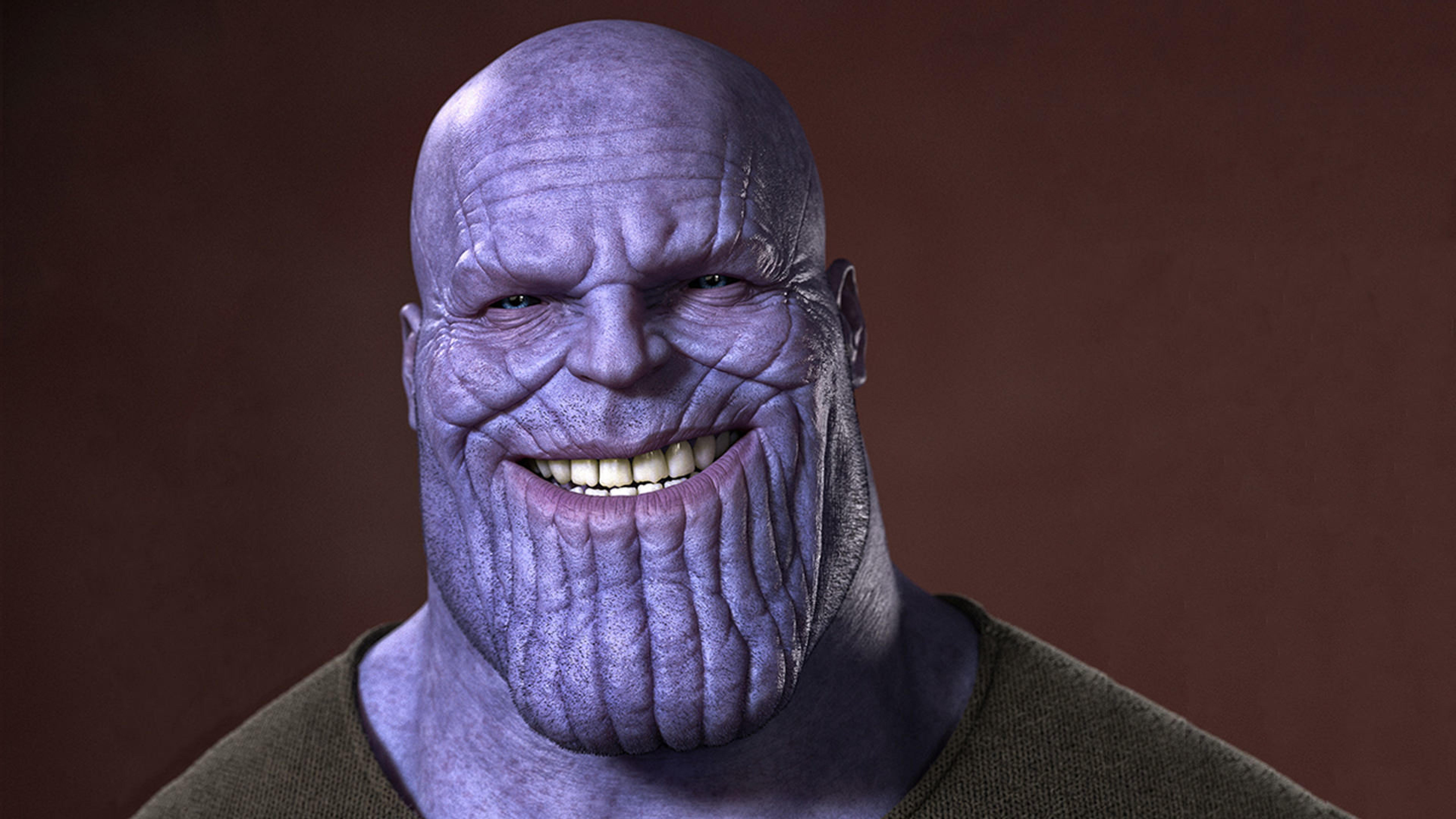 Thanos Smiling, Full HD Wallpaper