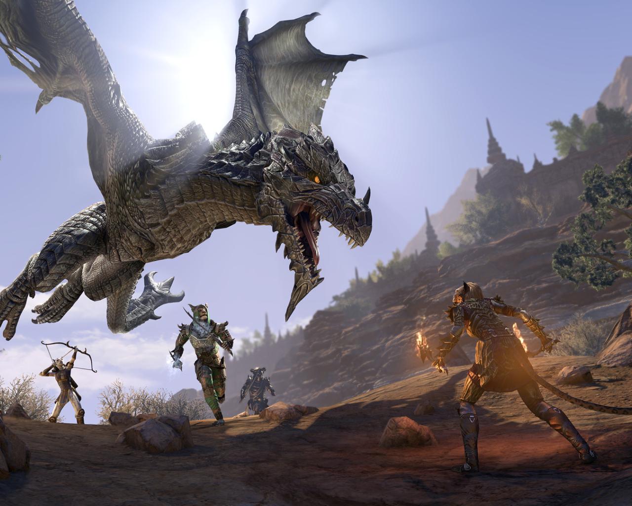 1280x1024 The Elder Scrolls Online Elsweyr Dragon 1280x1024