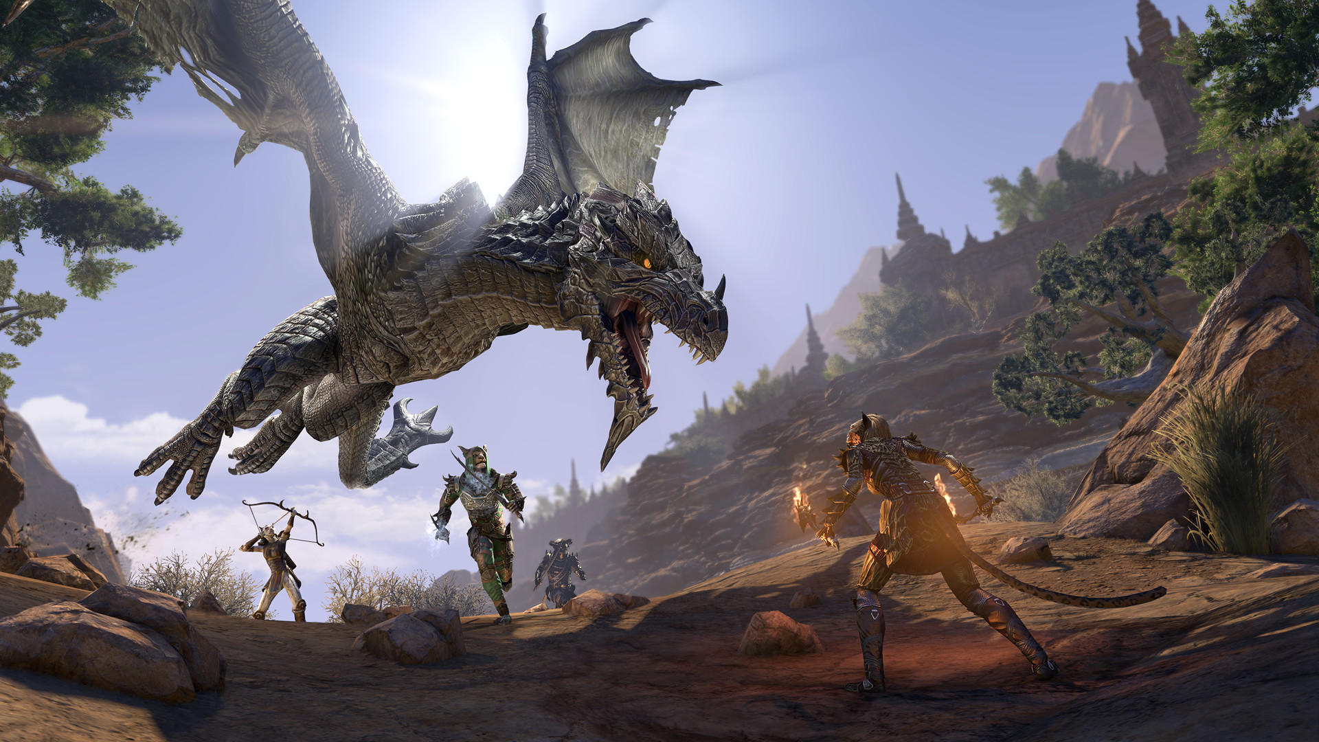 The Elder Scrolls Online Elsweyr Dragon Wallpaper Hd Games 4k