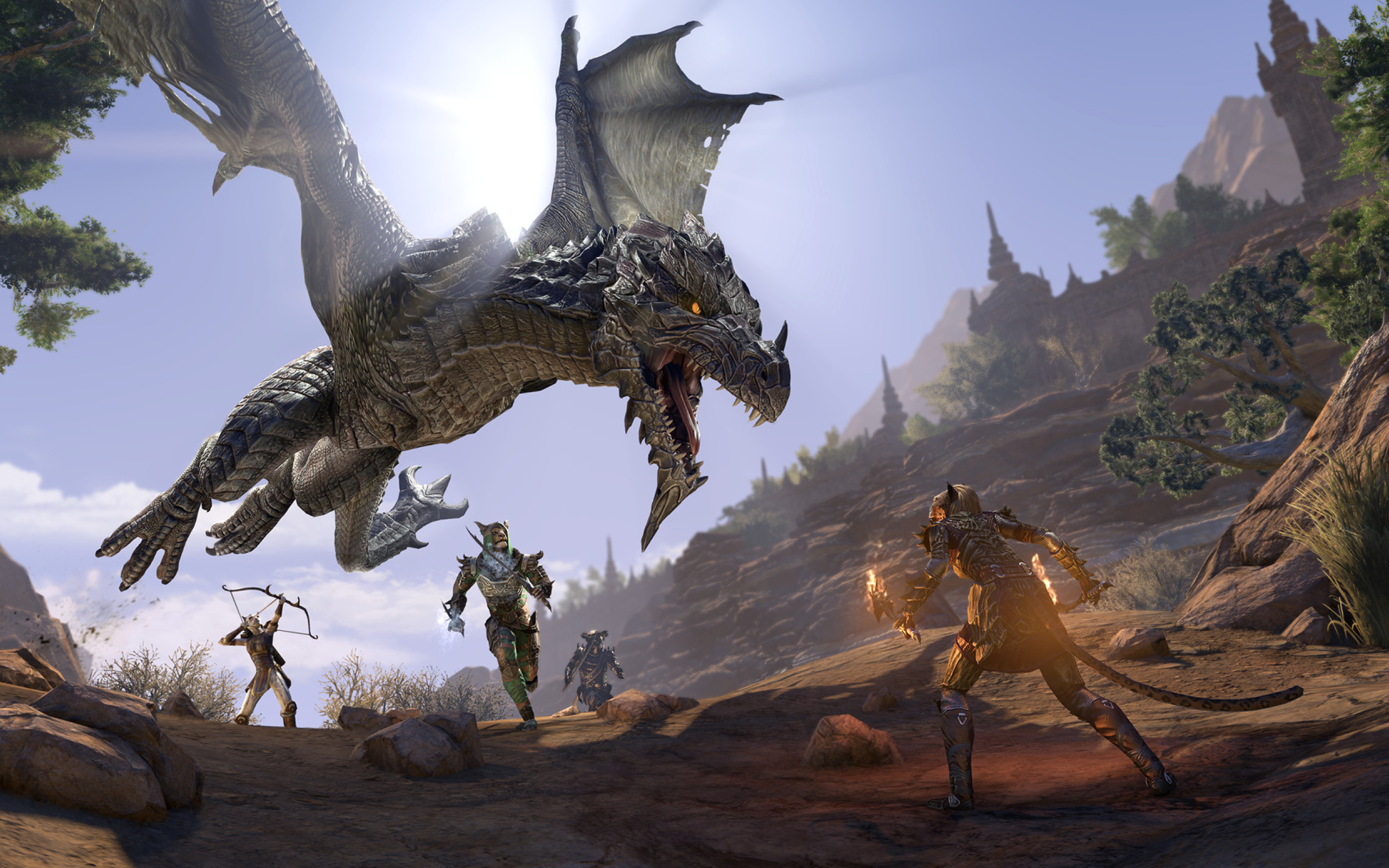 2560x1600 The Elder Scrolls Online Elsweyr Dragon ...