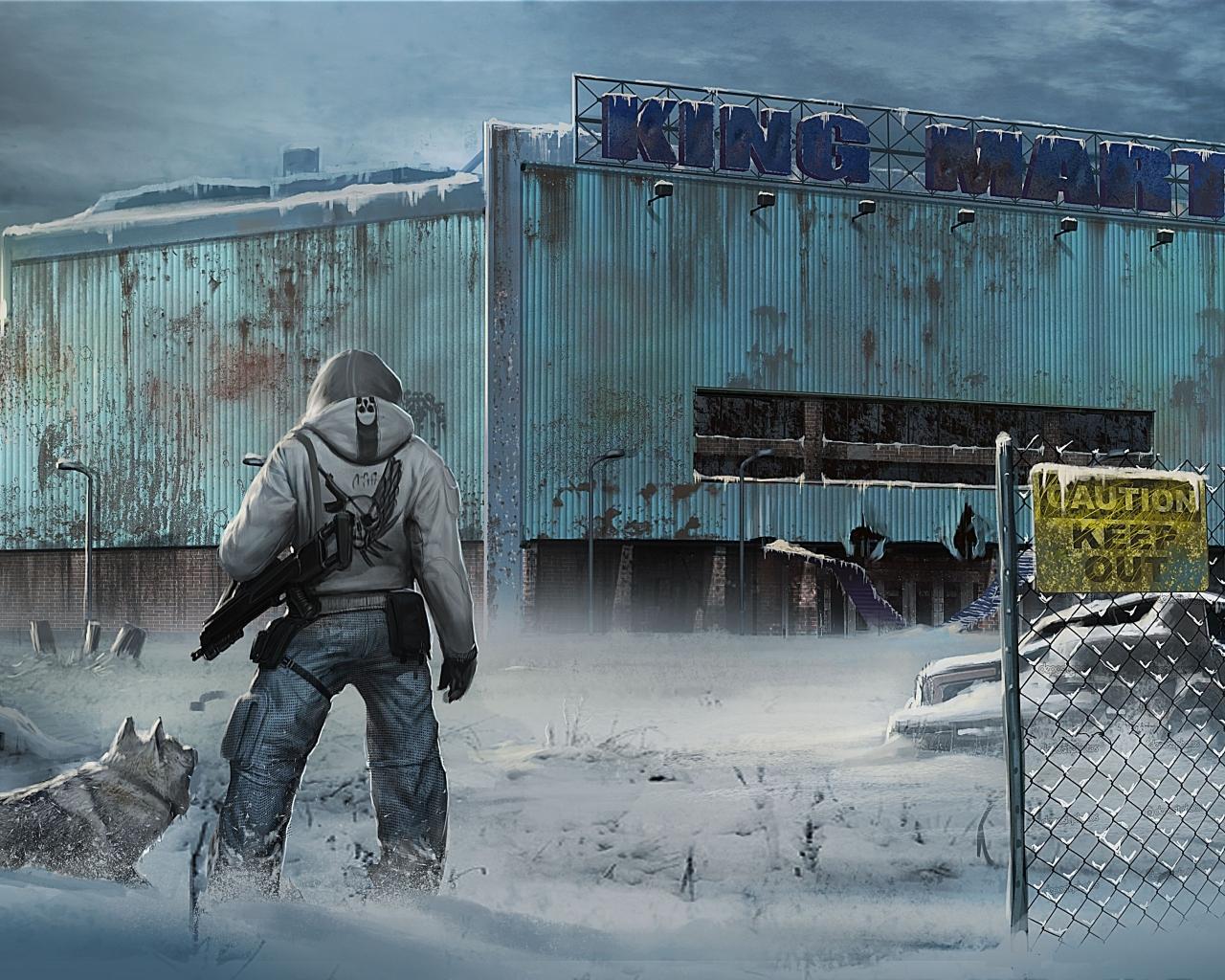 1280x1024 The Last Of Us City Winter 1280x1024 Resolution