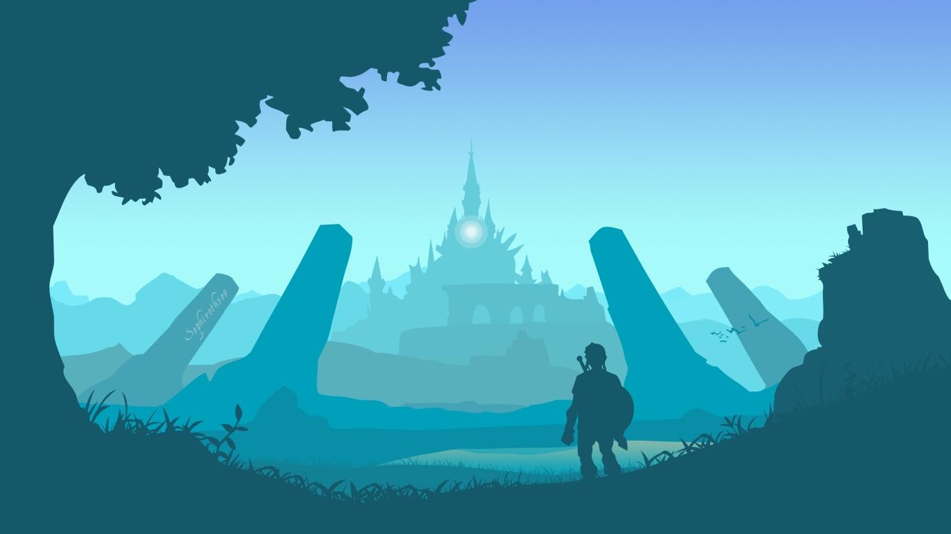 1366x768 The Legend Of Zelda Breath Of The Wild Art 1366x768