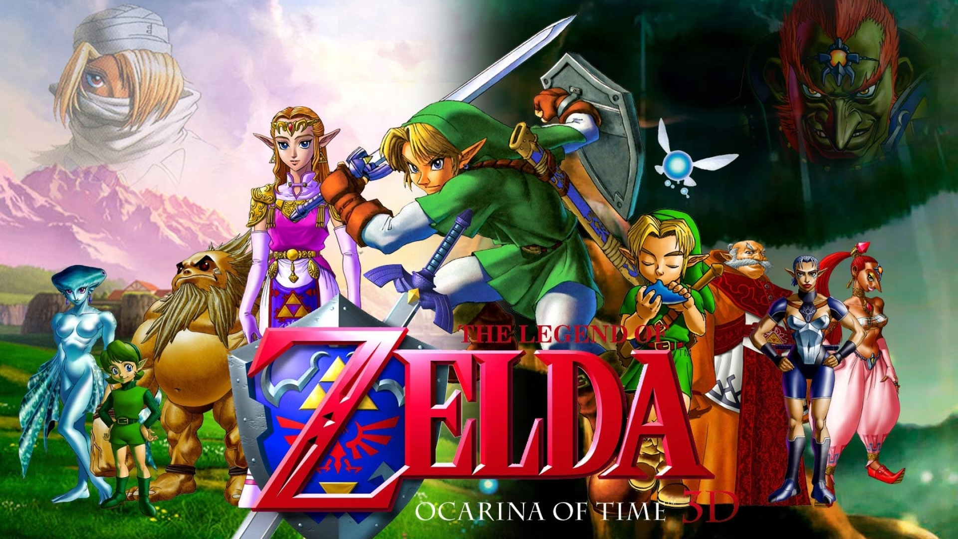 1920x1080 The Legend Of Zelda Characters Faces 1080p Laptop Full