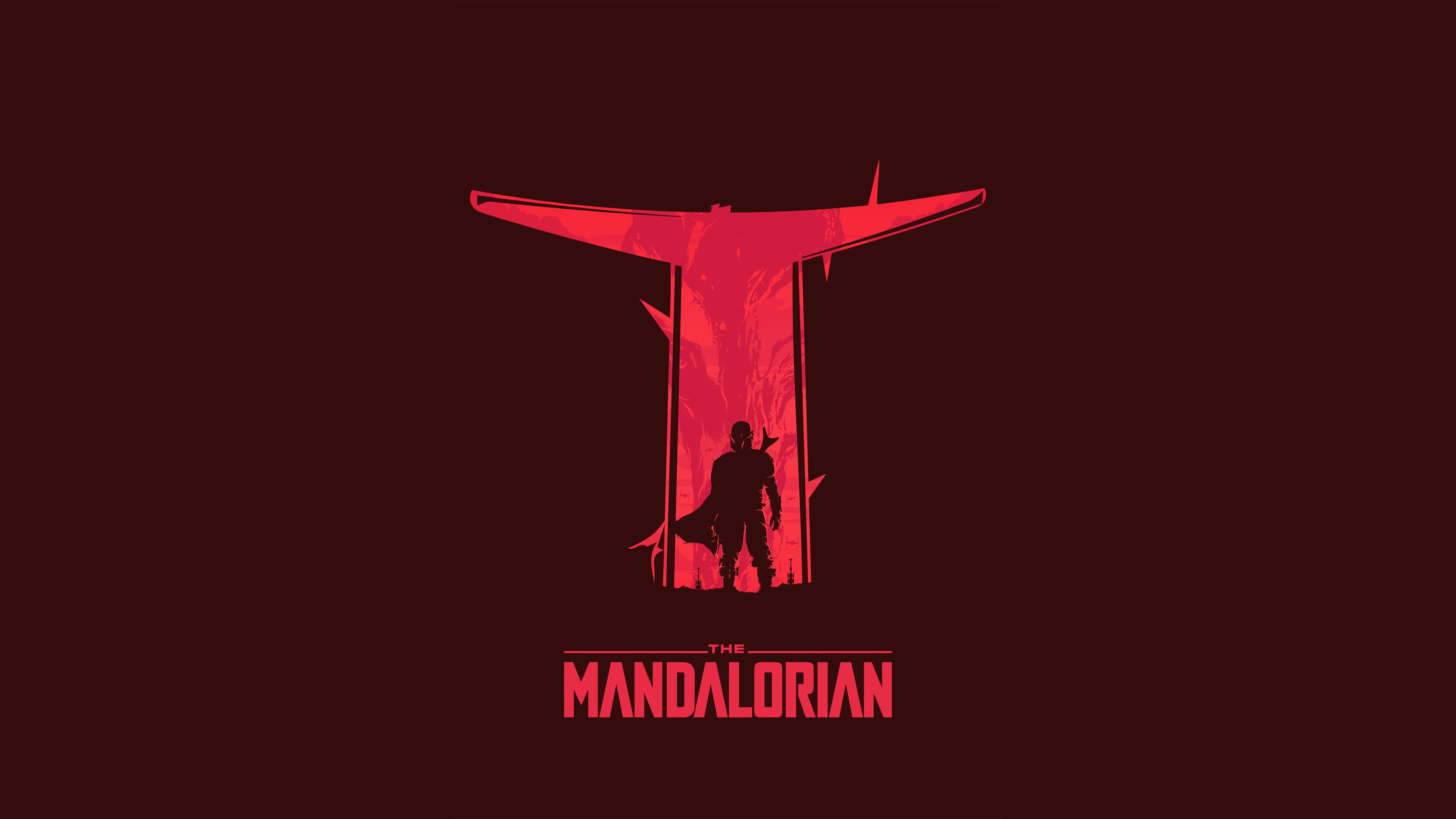 The Mandalorian Minimalist Wallpaper