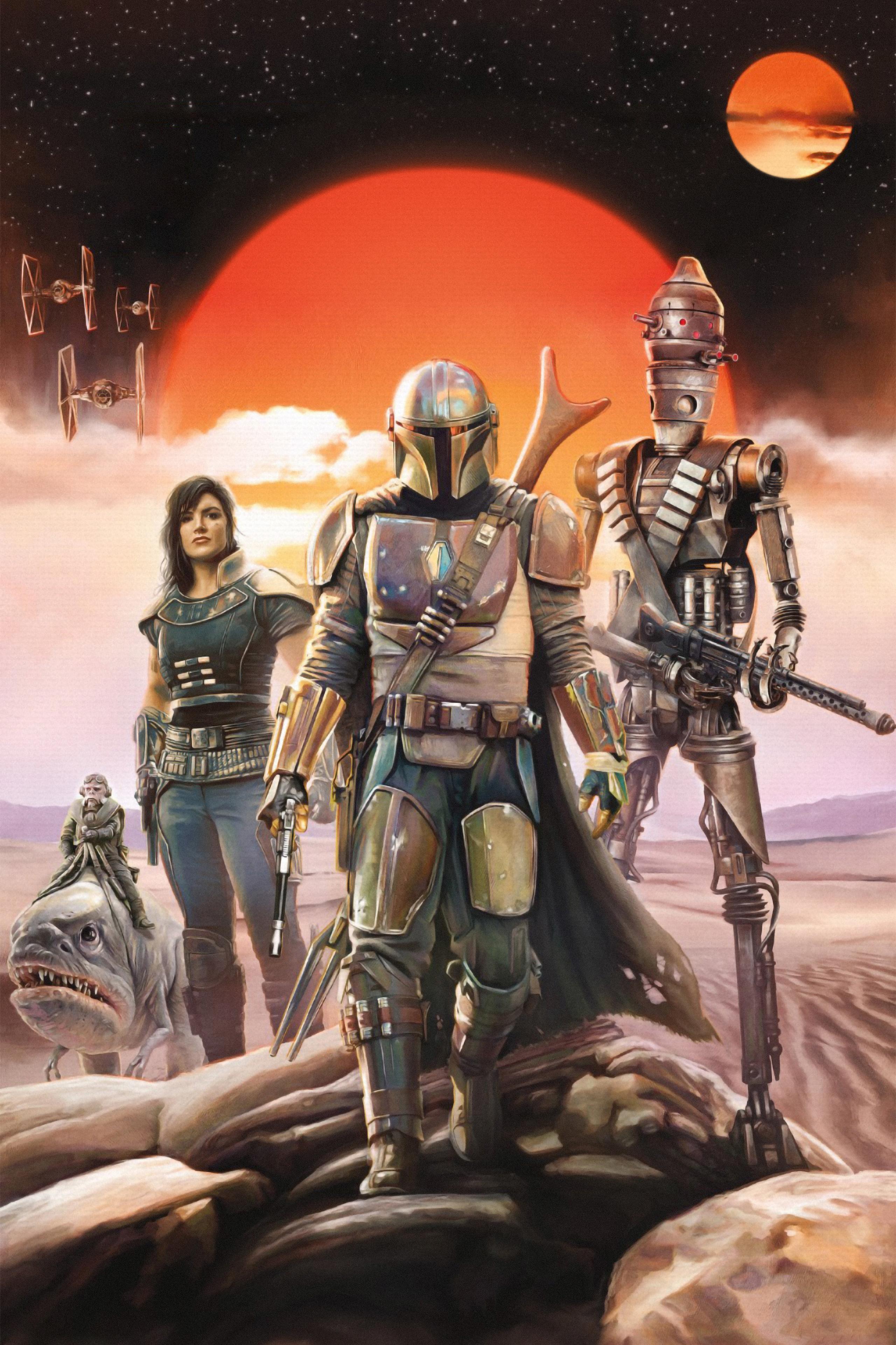 The Mandalorian Poster Wallpaper, HD TV Series 4K ...