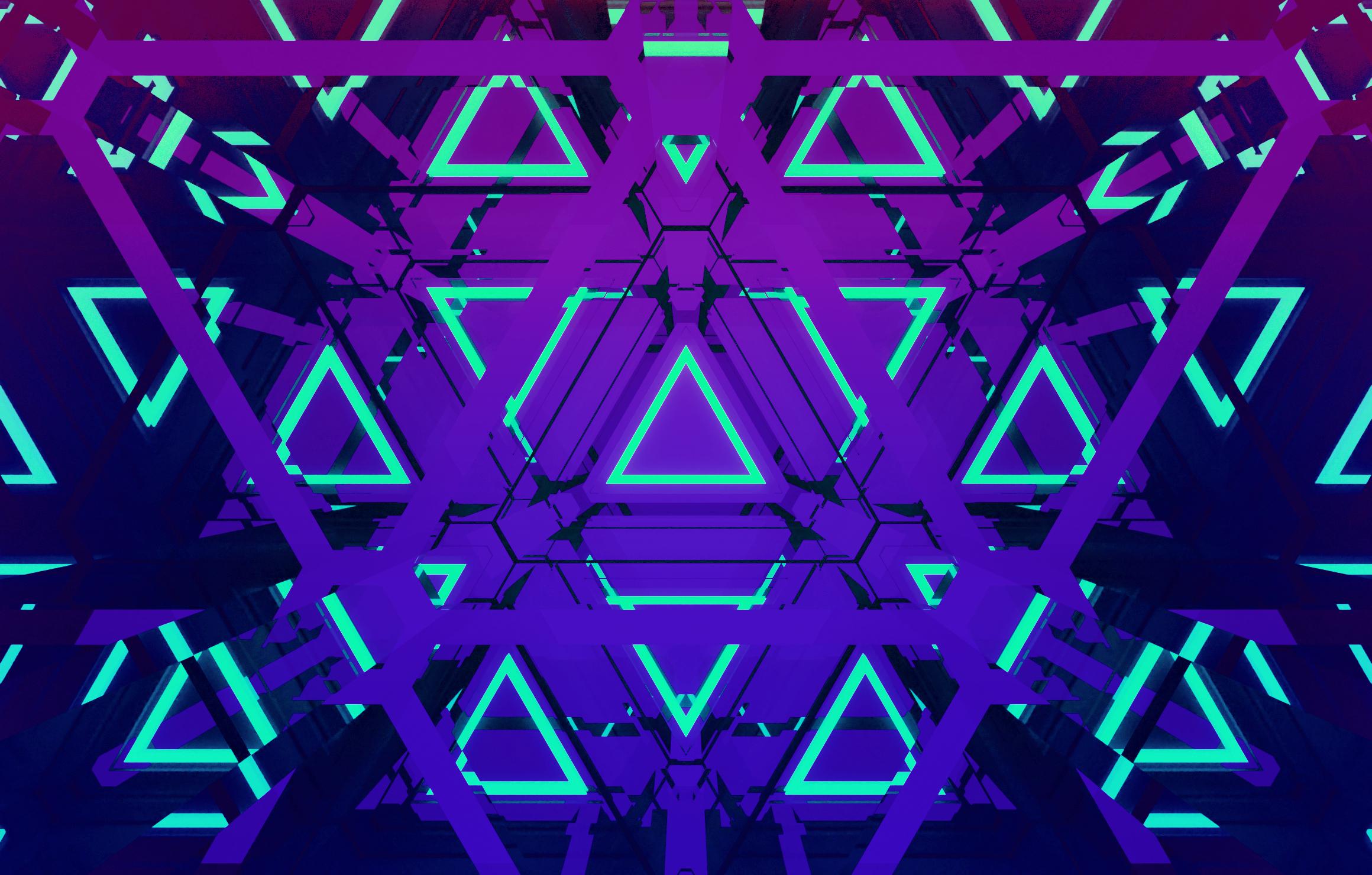 The Neon Triangles Wallpaper, HD ...
