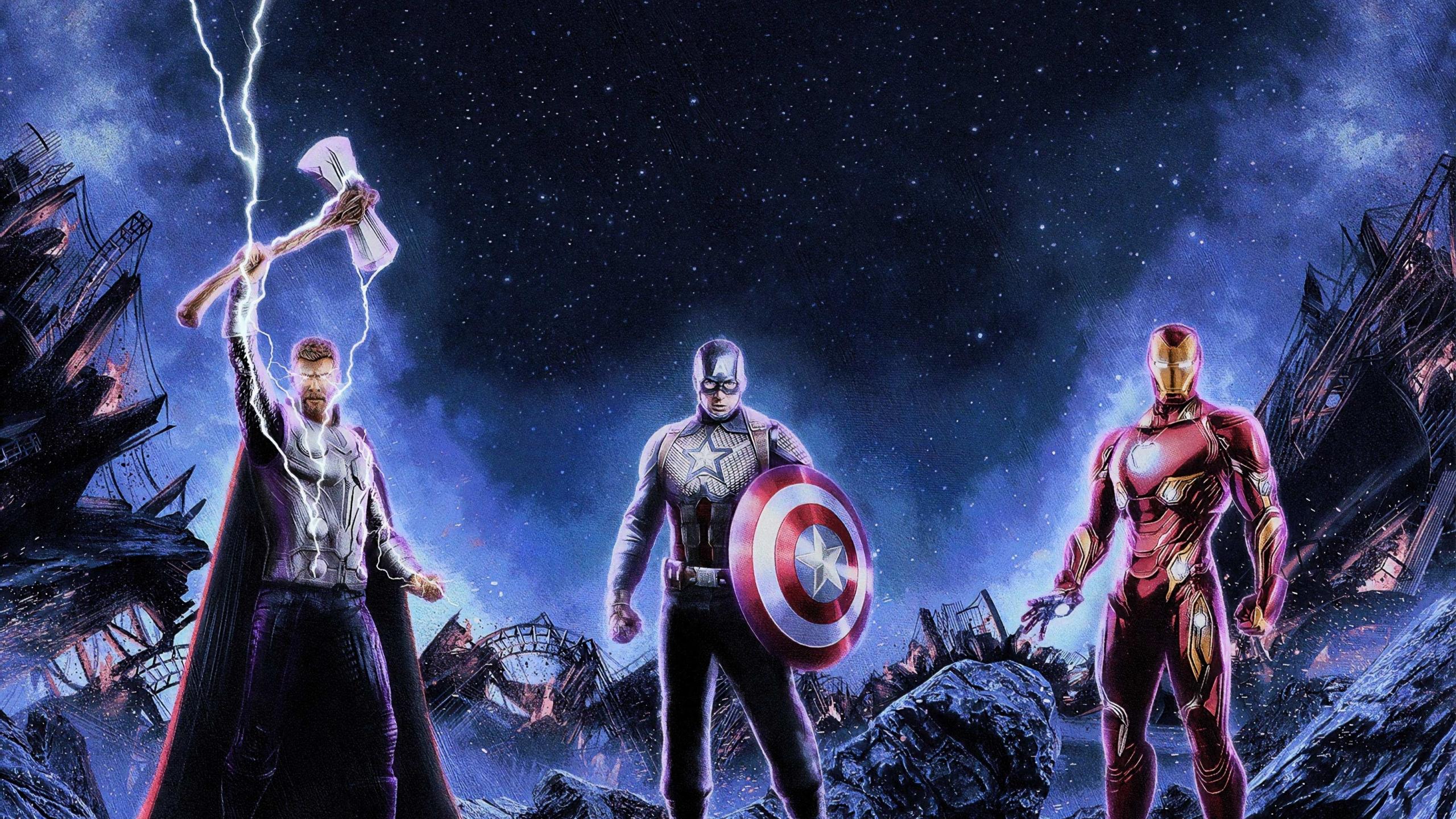 2560x1440 The Trinity Avengers Endgame 1440P Resolution ...