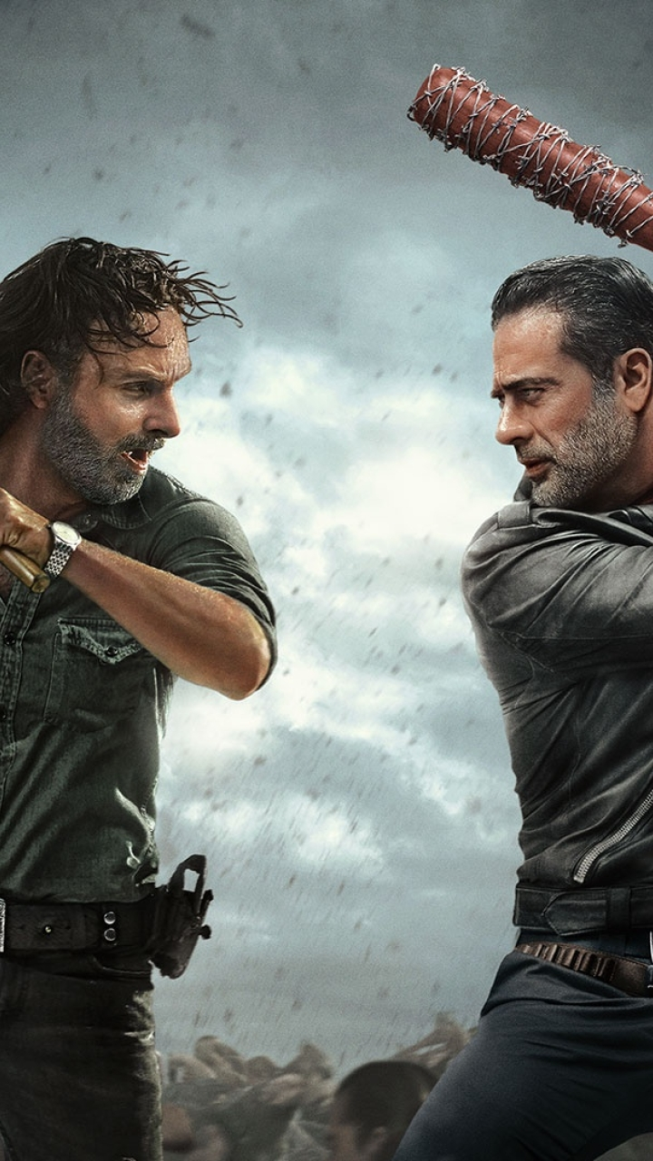 The Walking Dead Andrew Lincoln And Jeffrey Dean Morgan Full Hd Wallpaper