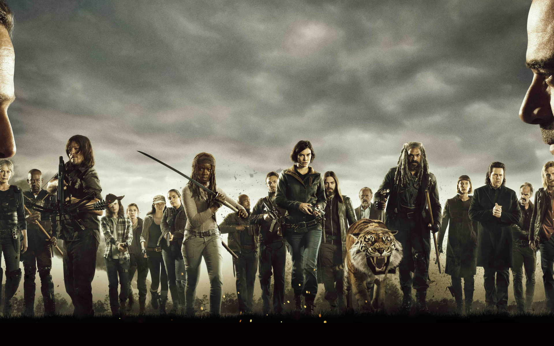 download the walking dead cast poster 480x800 resolution