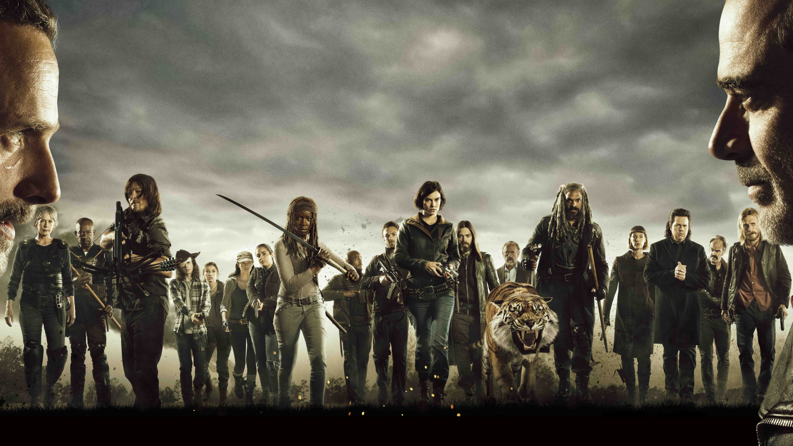 2560x1440 The Walking Dead Cast Poster 1440p Resolution Wallpaper