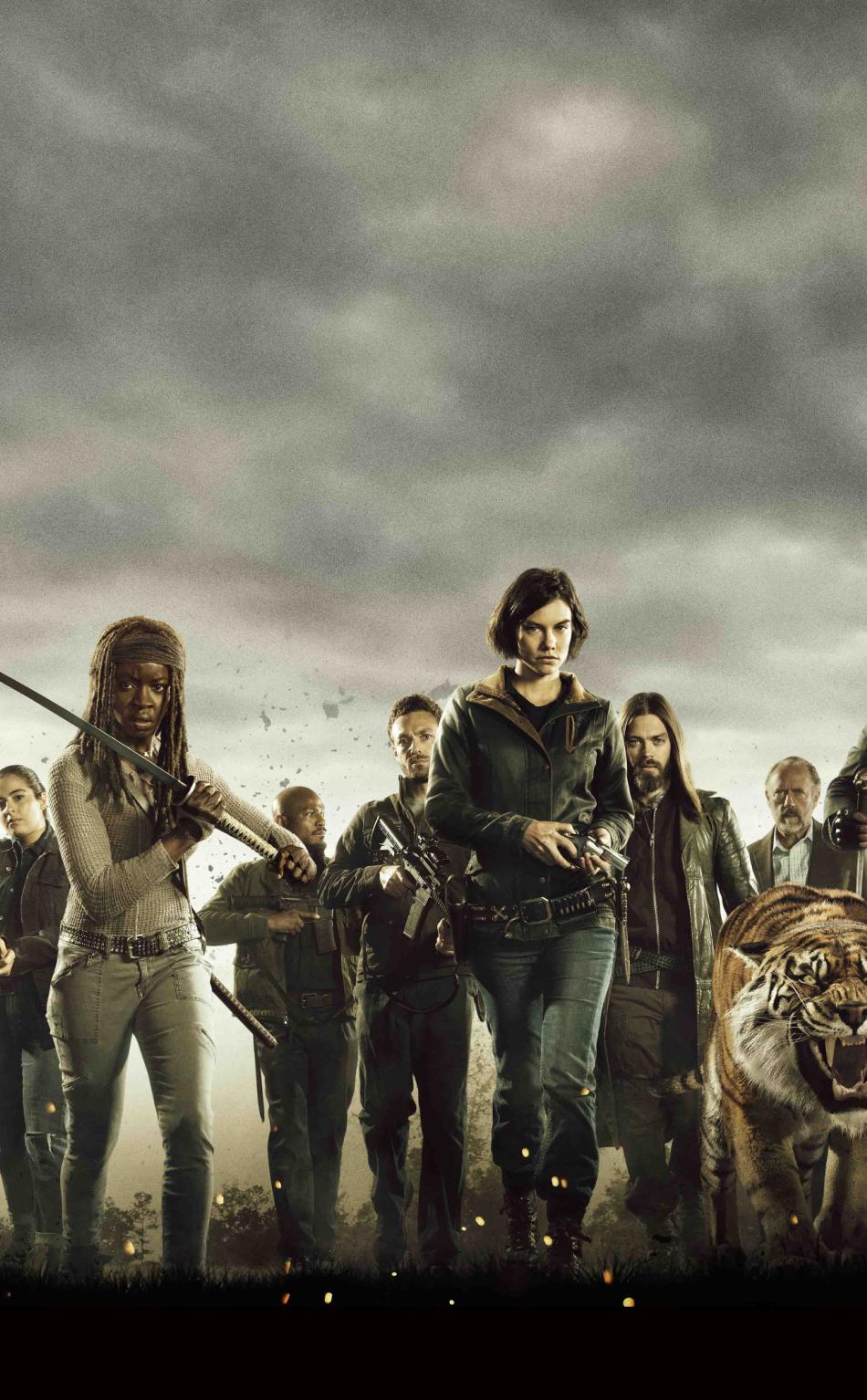 The Walking Dead Cast Poster Hd 4k Wallpaper