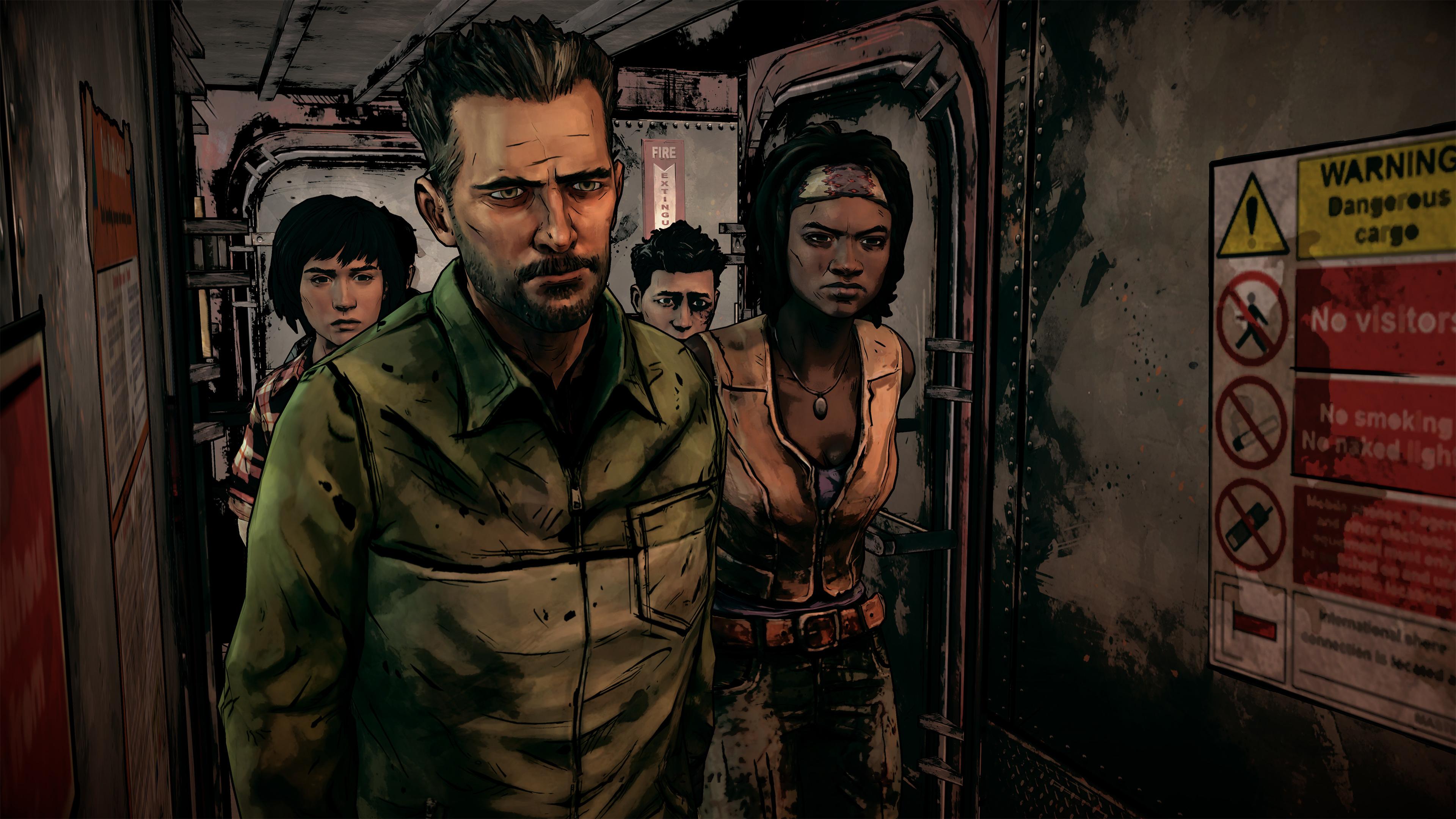 The Walking Dead The Telltale Graphic Black Wallpaper Hd Games 4k