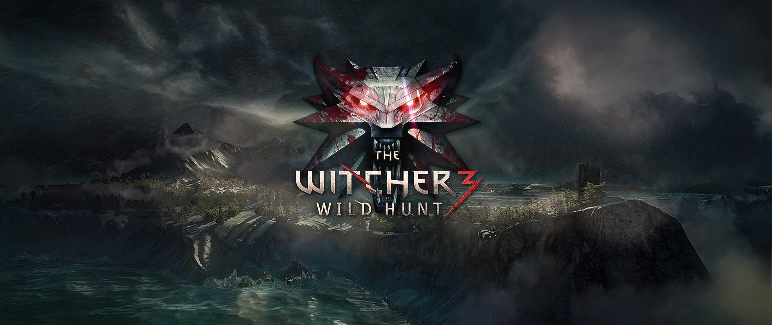 2560x1080 The Witcher 3 Wild Hunt Logo 2560x1080 Resolution