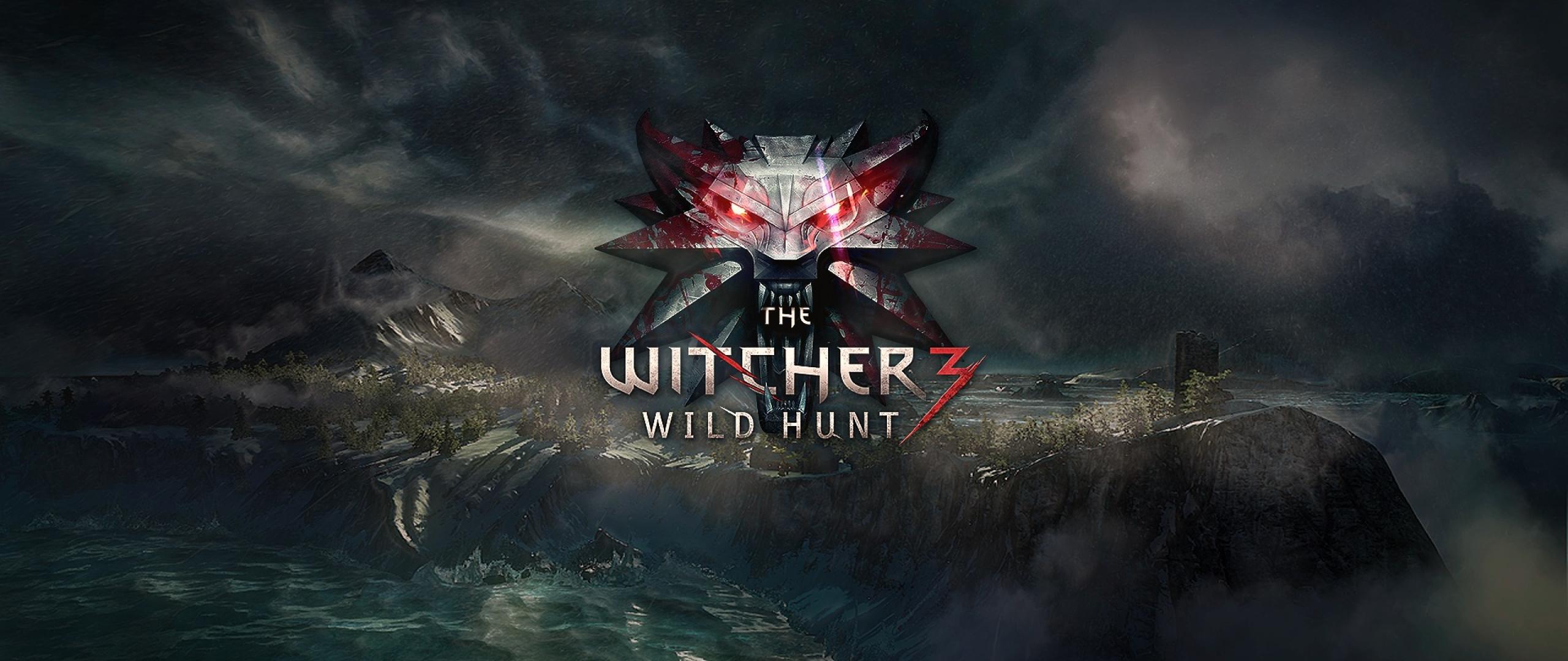 2560x1080 the witcher 3, wild hunt, logo 2560x1080 ...