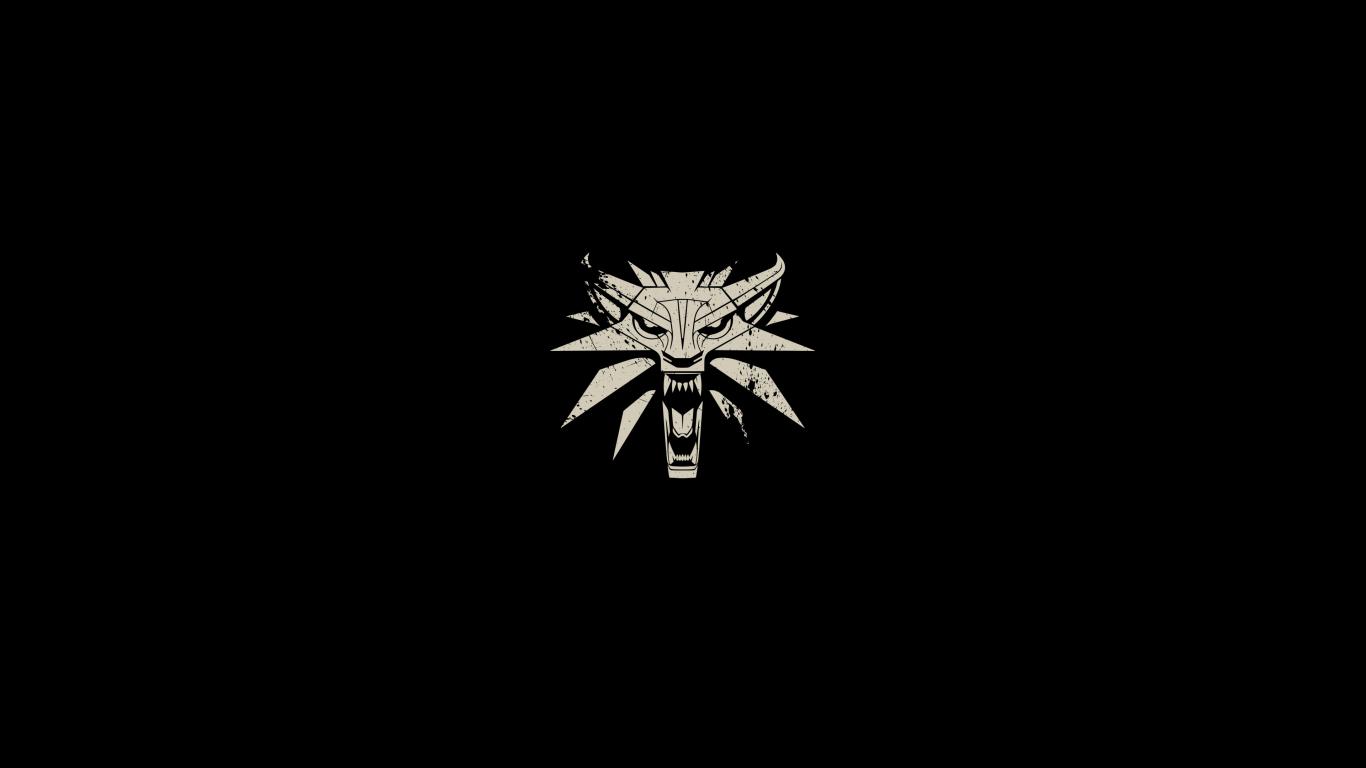 1366x768 The Witcher 3 Wild Hunt Minimalism Logo 1366x768 ...