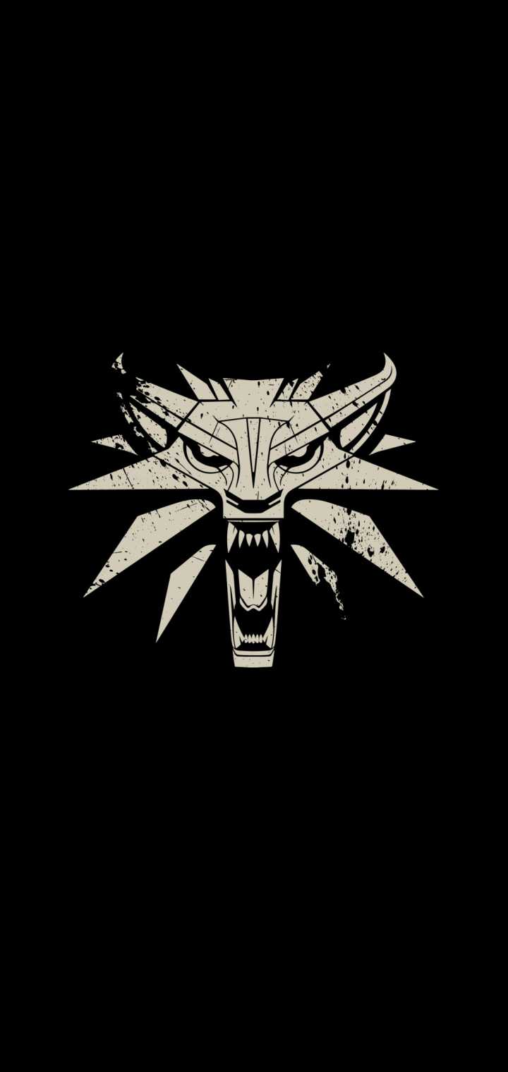720x1520 The Witcher 3 Wild Hunt Minimalism Logo 720x1520