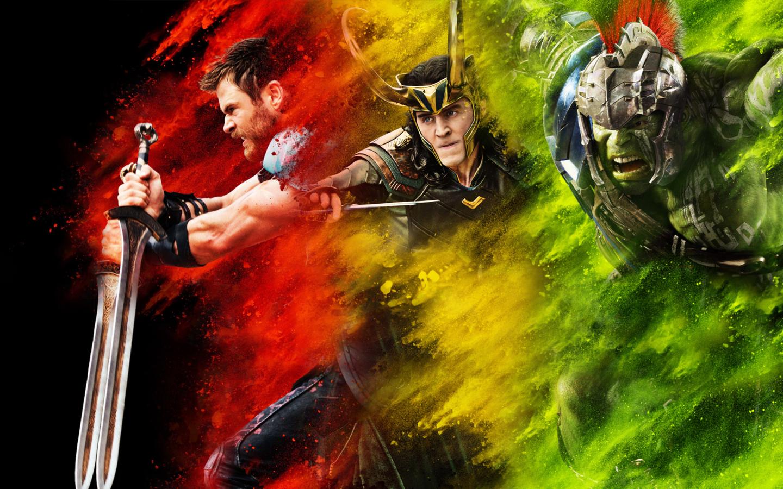 thor loki hulk thor ragnarok full hd 2k wallpaper