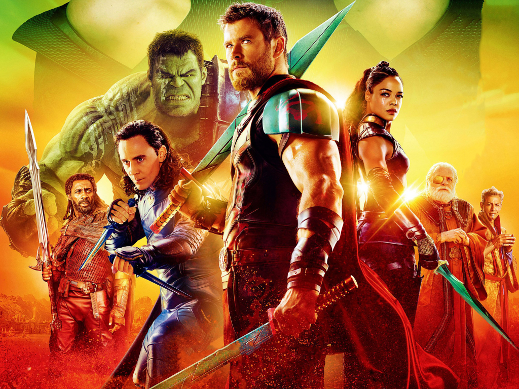 thor ragnarok movie cast poster 2017 full hd 2k wallpaper. Black Bedroom Furniture Sets. Home Design Ideas