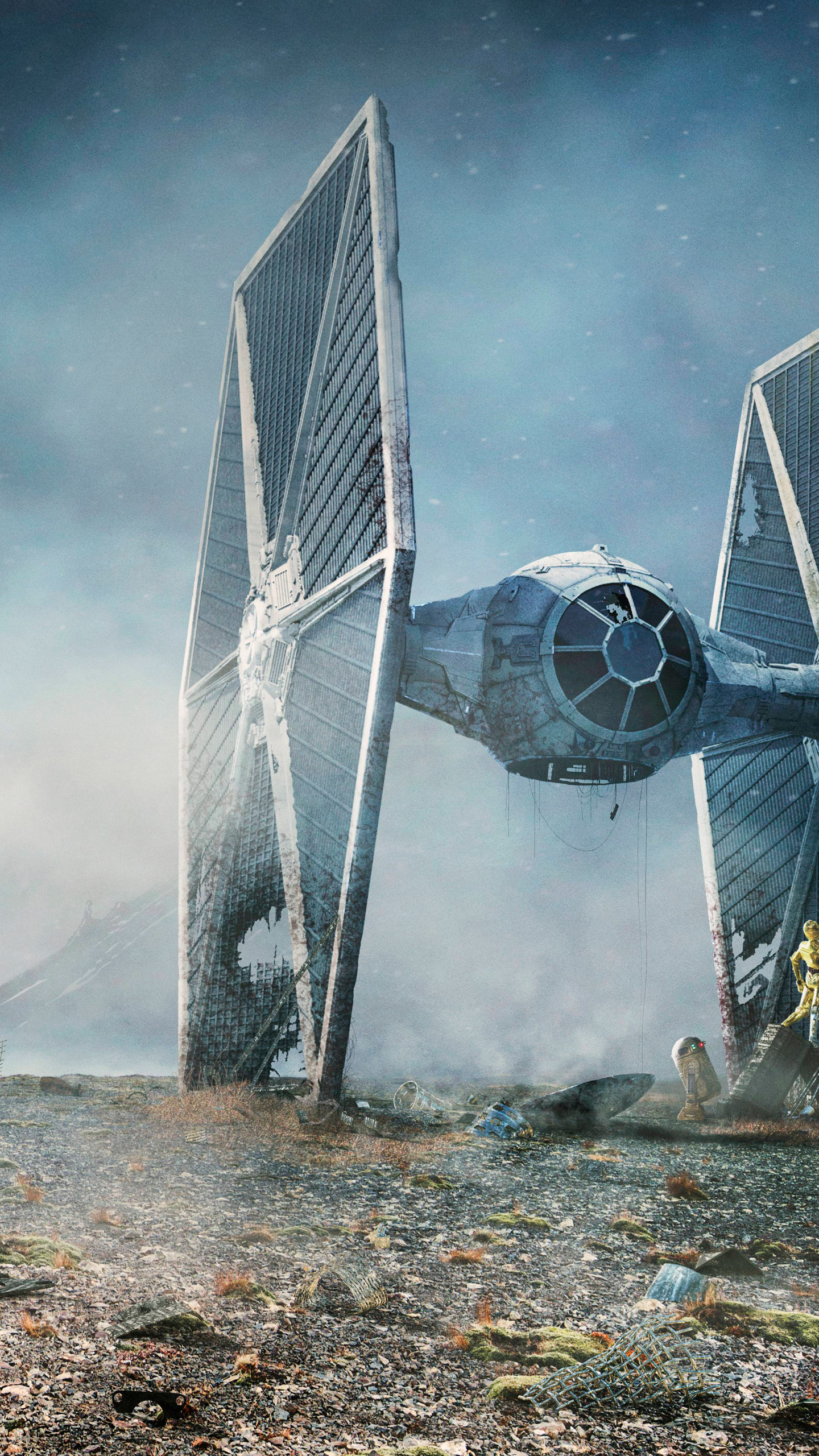 1440x2560 Tie Fighter Star Wars Samsung Galaxy S6 S7 Google Pixel Xl Nexus 6 6p Lg G5 Wallpaper Hd Movies 4k Wallpapers Images Photos And Background