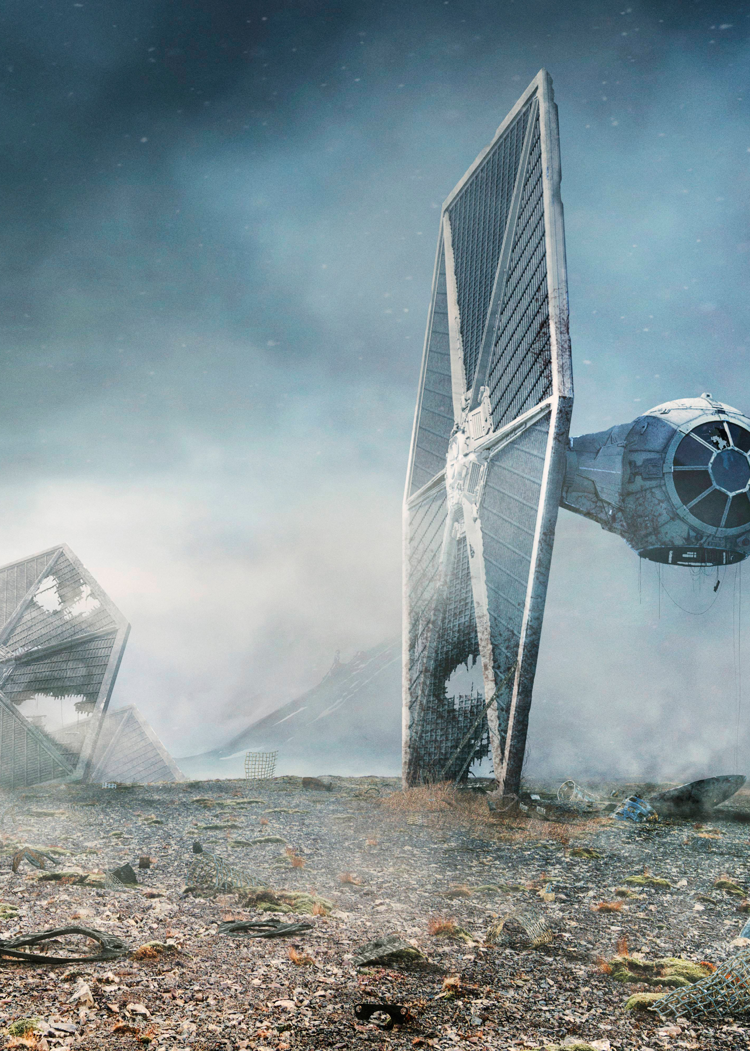 1536x2152 Tie Fighter Star Wars 1536x2152 Resolution Wallpaper Hd Movies 4k Wallpapers Images Photos And Background