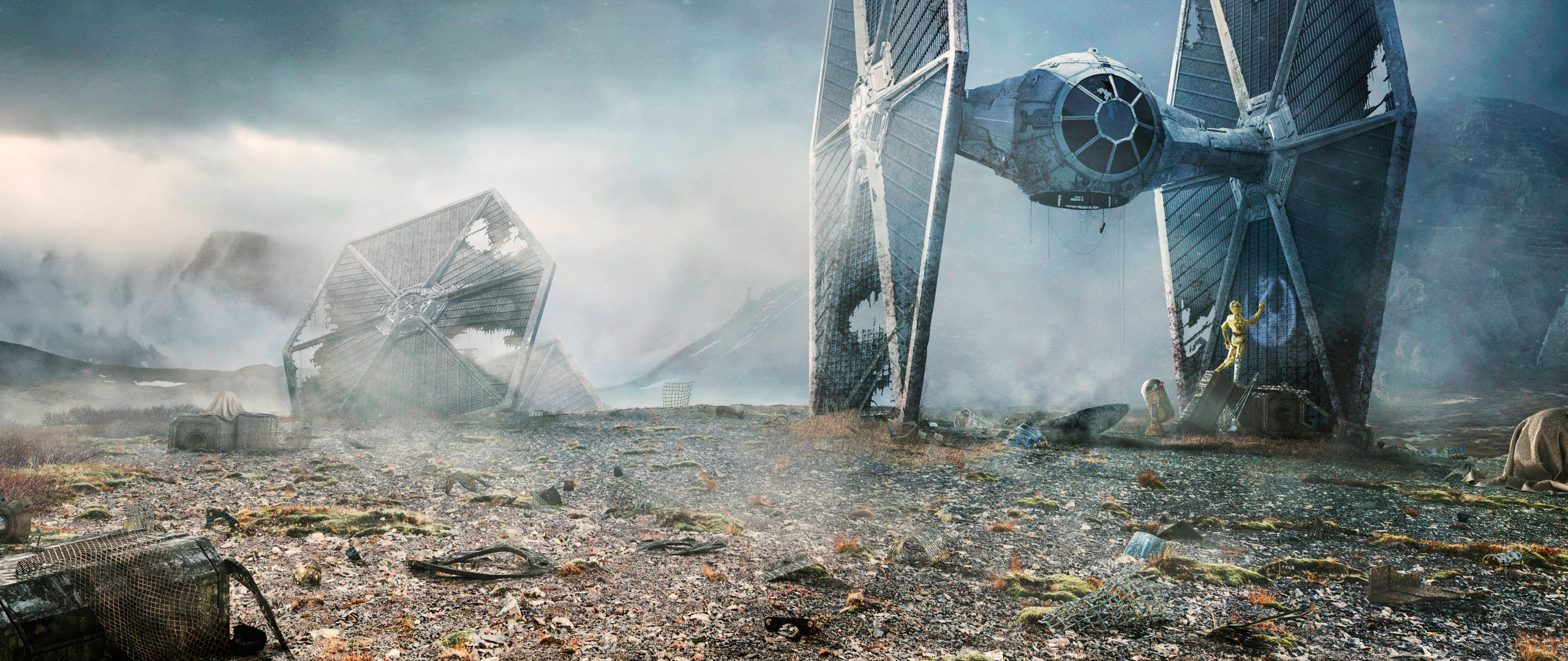 Download Tie Fighter Star Wars 2560x1080 Resolution HD 8K Wallpaper