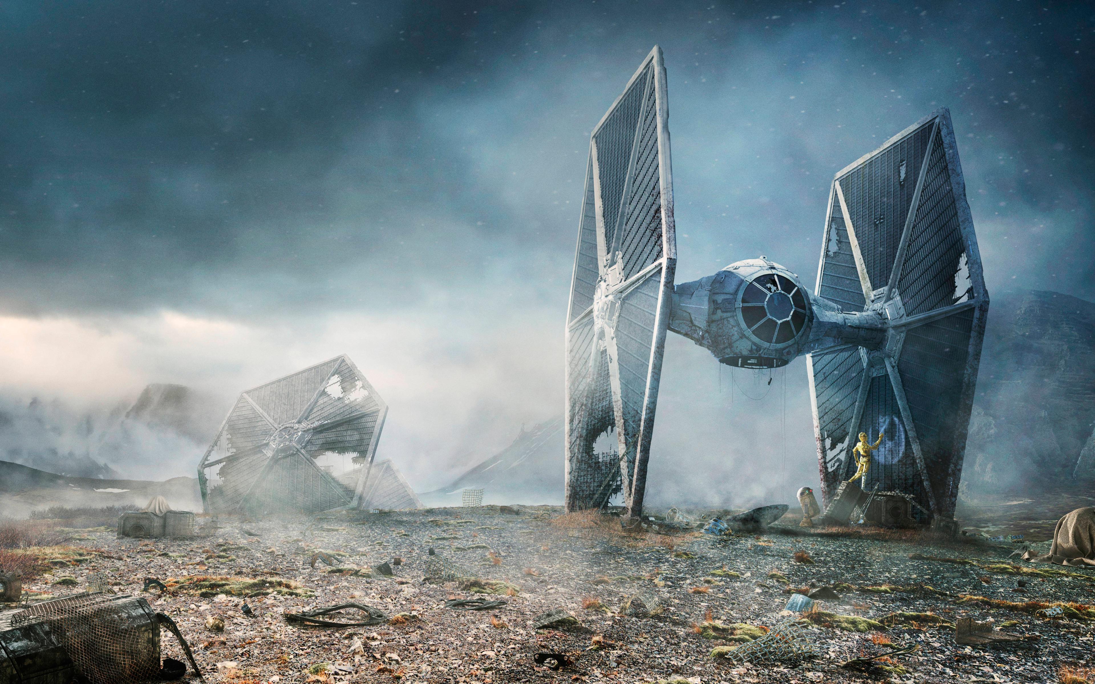 Download Tie Fighter Star Wars 240x400 Resolution HD 8K Wallpaper