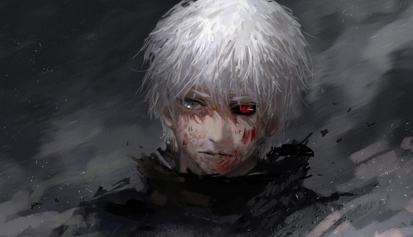 1336x768 Tokyo Ghoul Kaneki Ken Guy Hd Laptop Wallpaper Hd Anime 4k Wallpapers Images Photos And Background
