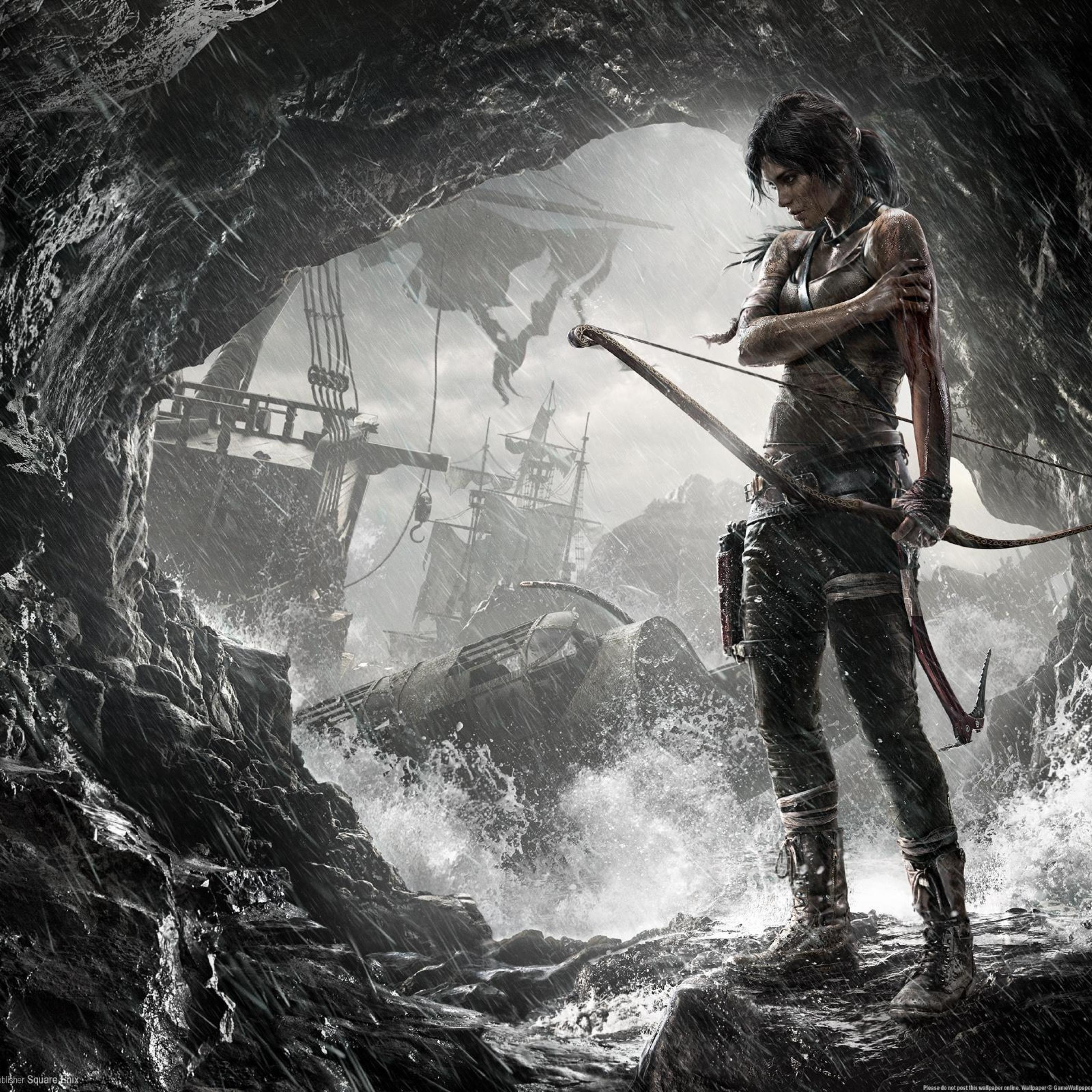 3d Tomb Raider Wallpaper: Tomb Raider 2 Game Art, Full HD 2K Wallpaper