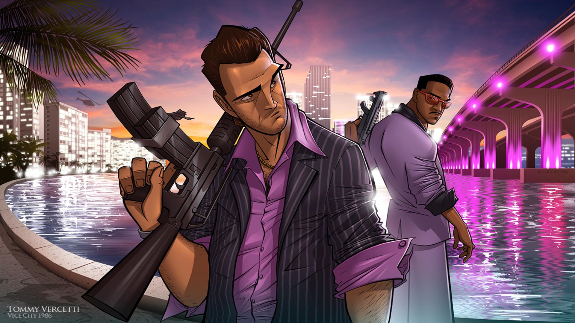 Tommy Vercetti Grand Theft Auto Vice City Wallpaper Hd Games 4k