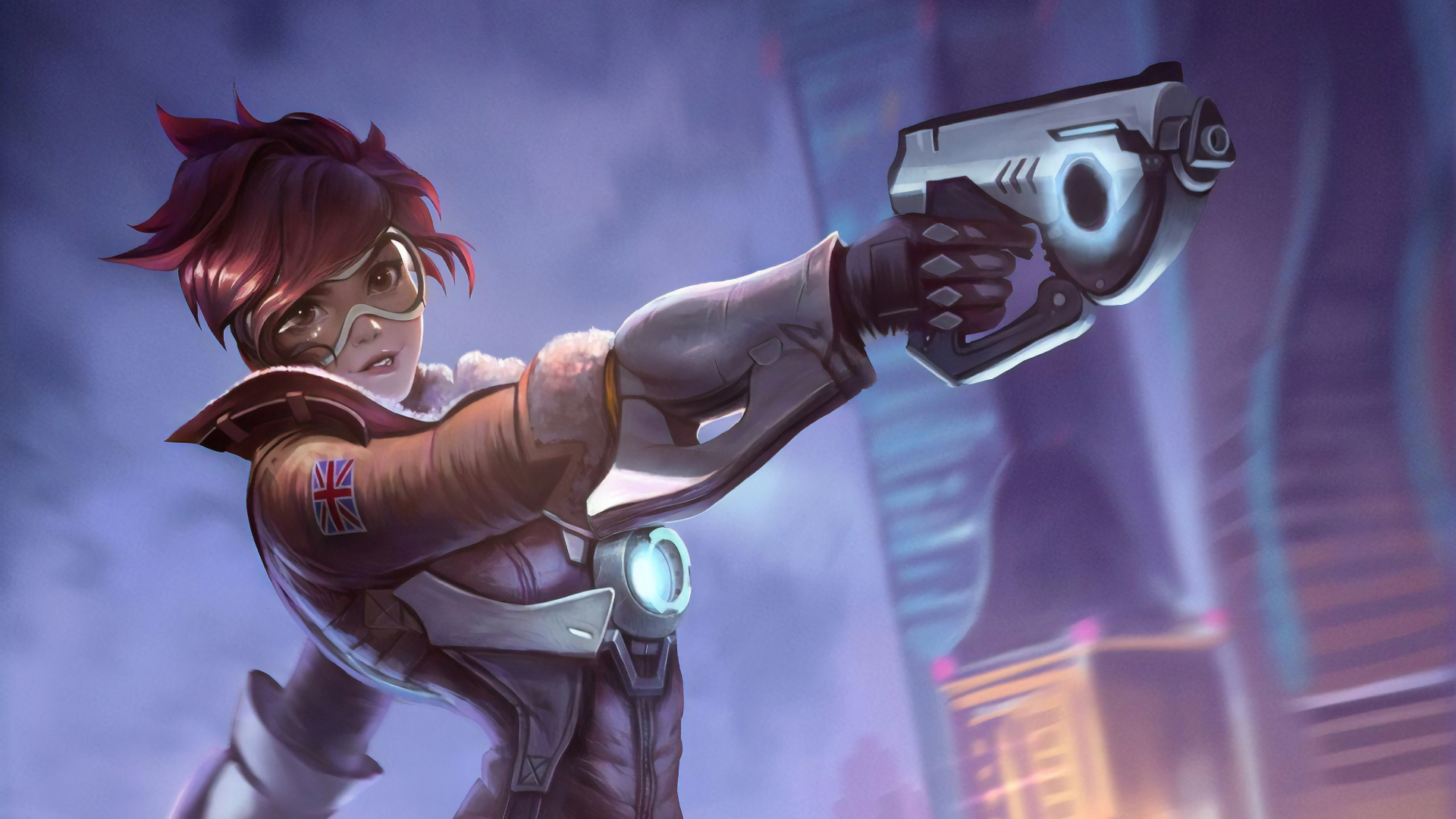 1920x1080 Tracer In Overwatch 1080p Laptop Full Hd Wallpaper