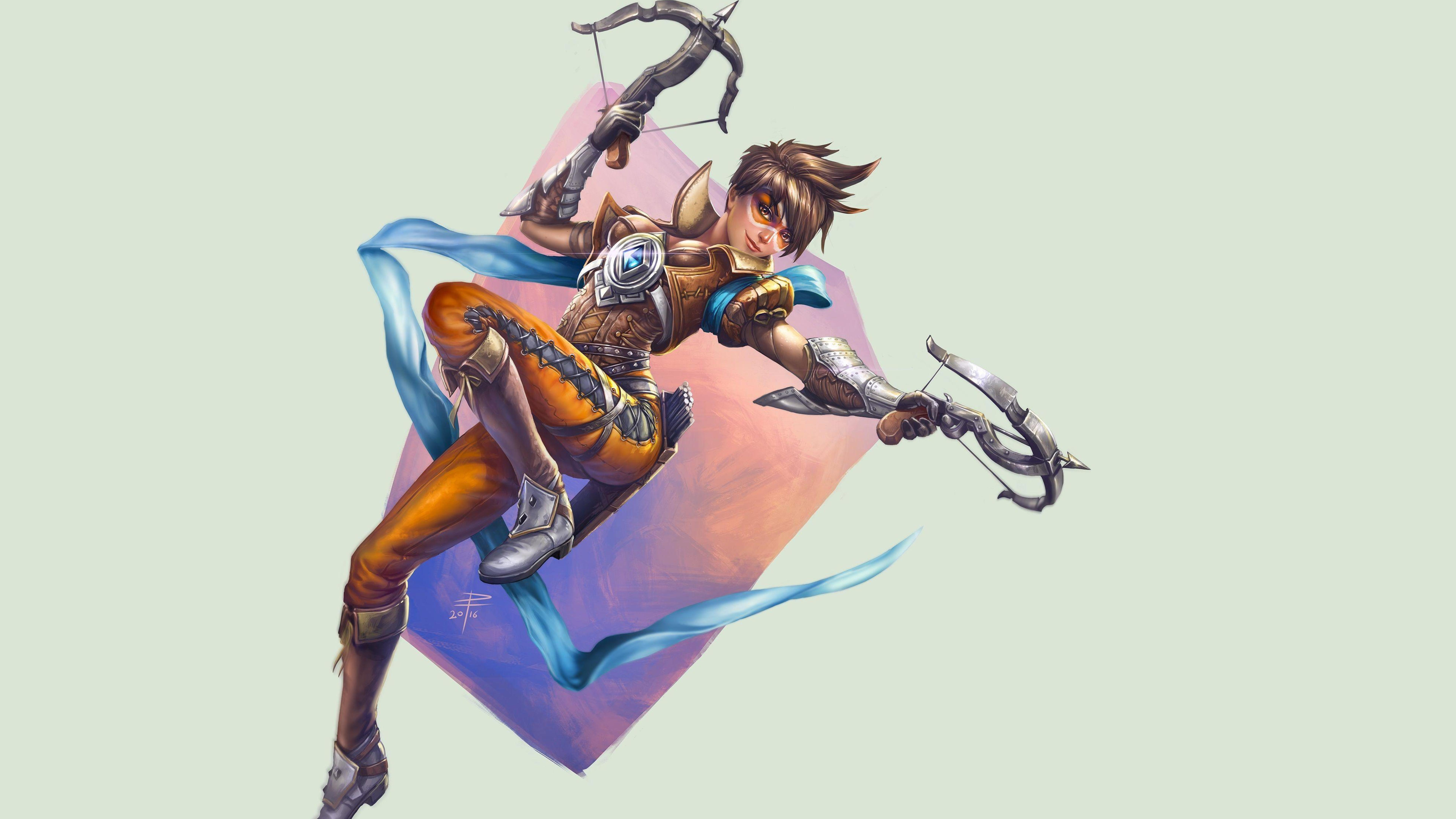 Dual Monitor Wallpaper Overwatch: Download Tracer Overwatch 1920x1080 Resolution, HD 4K
