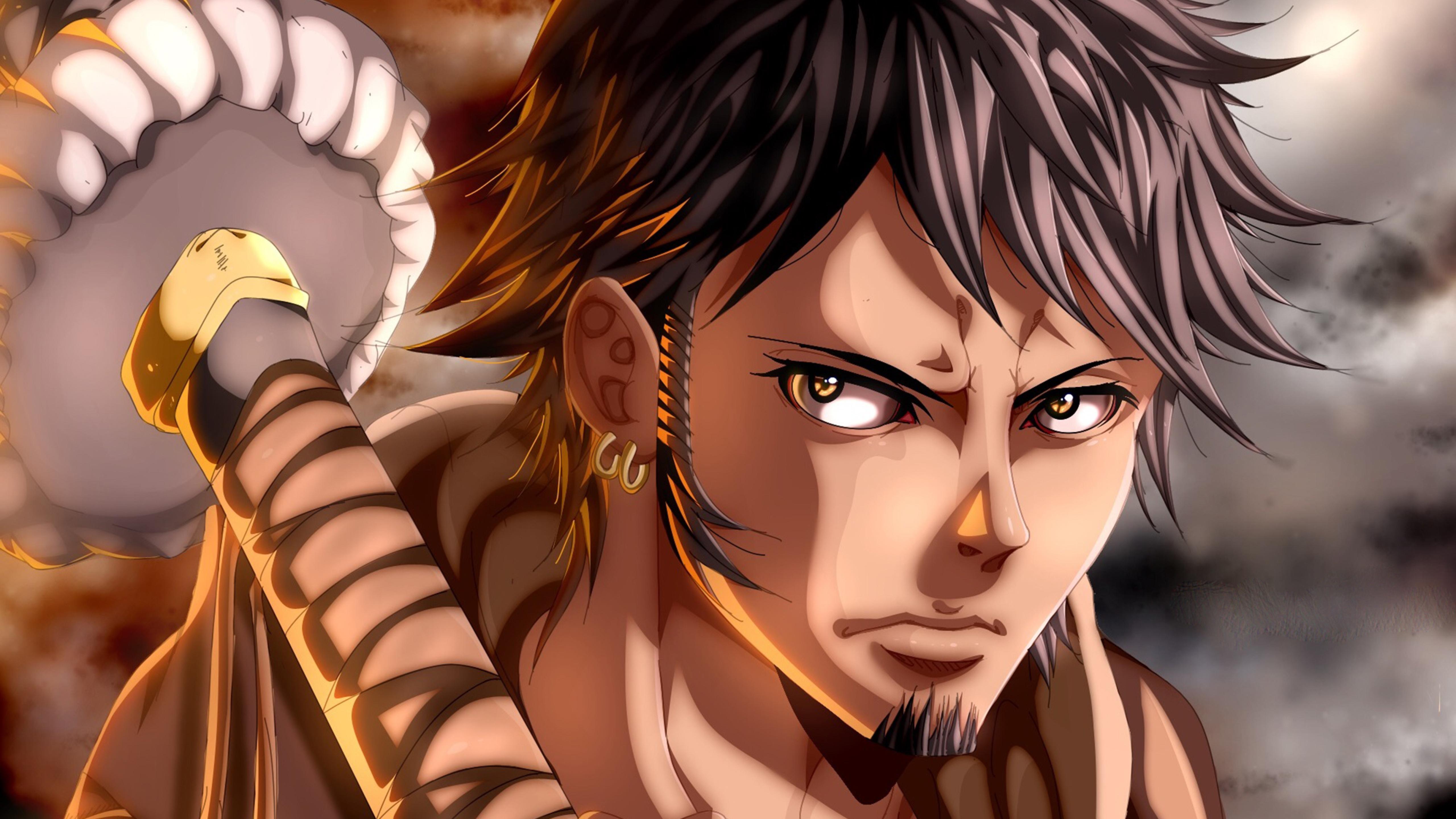5120x2880 Trafalgar Law E Piece Anime 5K Wallpaper HD