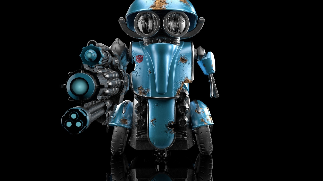 1366x768 Transformers 5 Squeeks Blue Robot 1366x768 ...