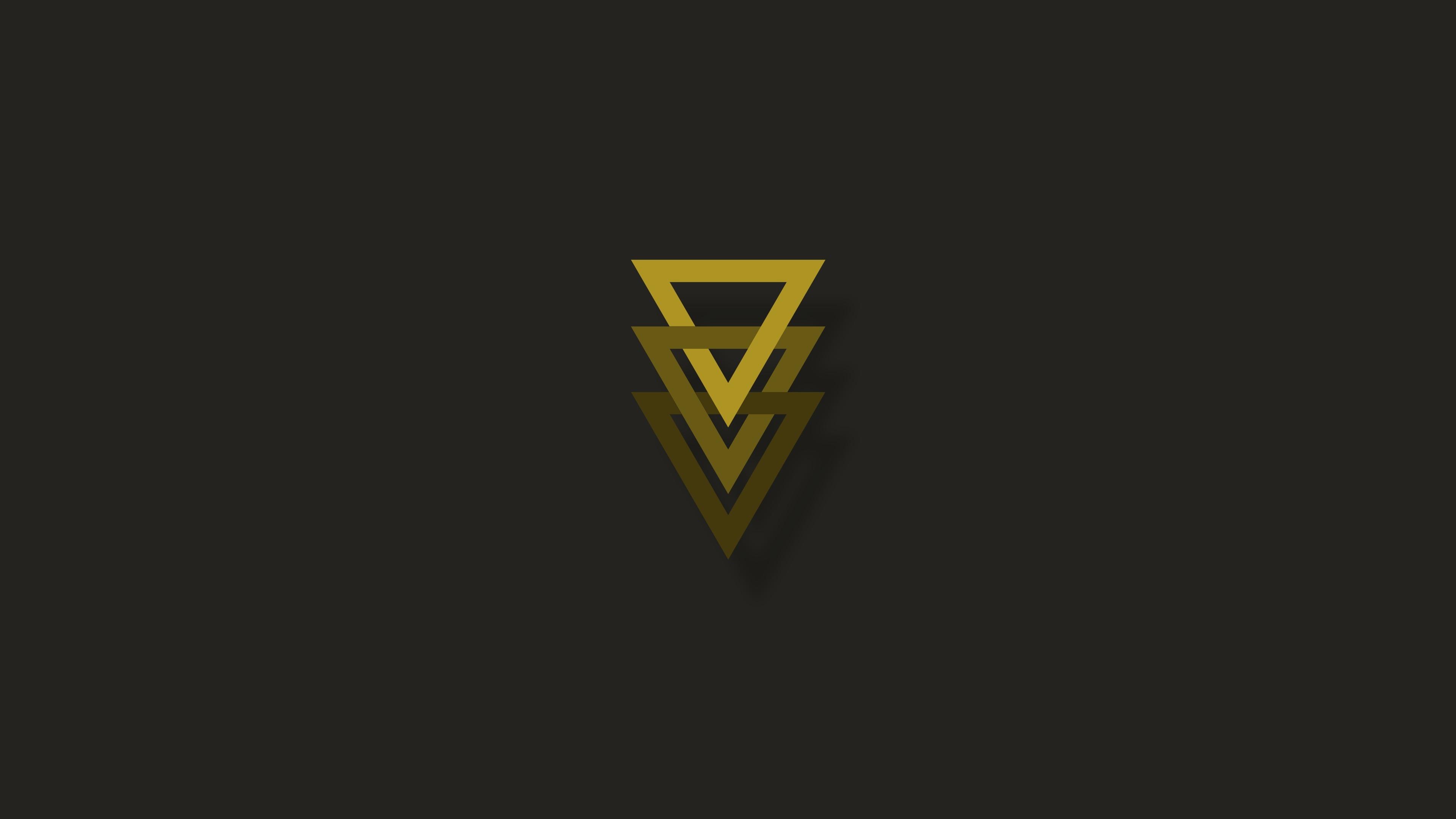 Triangle geometry minimal hd 4k wallpaper - 8k minimal wallpaper ...