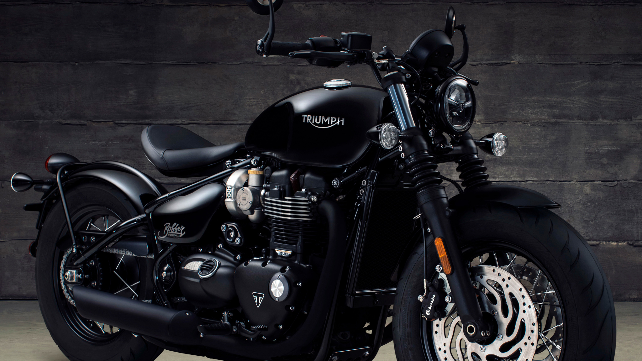 Triumph Bonneville Bobber Black 2017, HD 4K Wallpaper