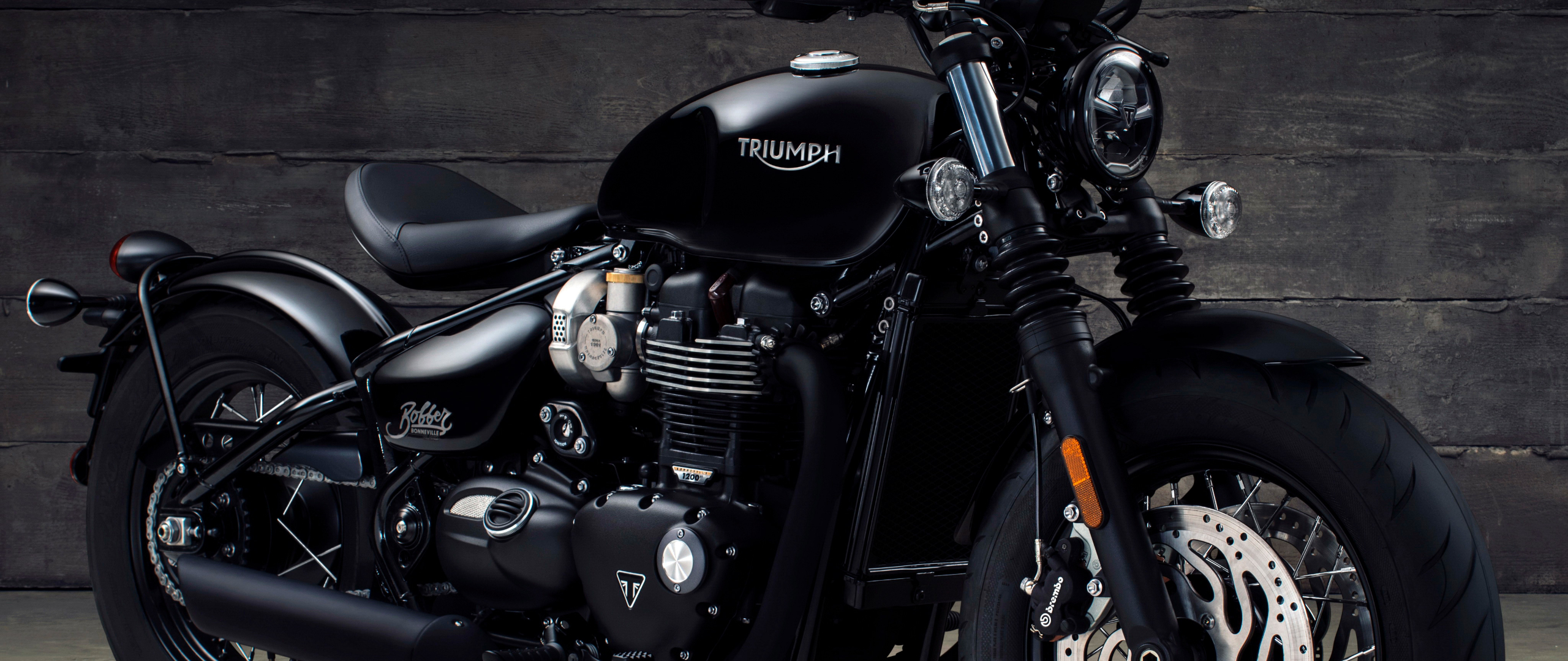 Triumph Bonneville Bobber Black 2017, HD 4K Wallpaper