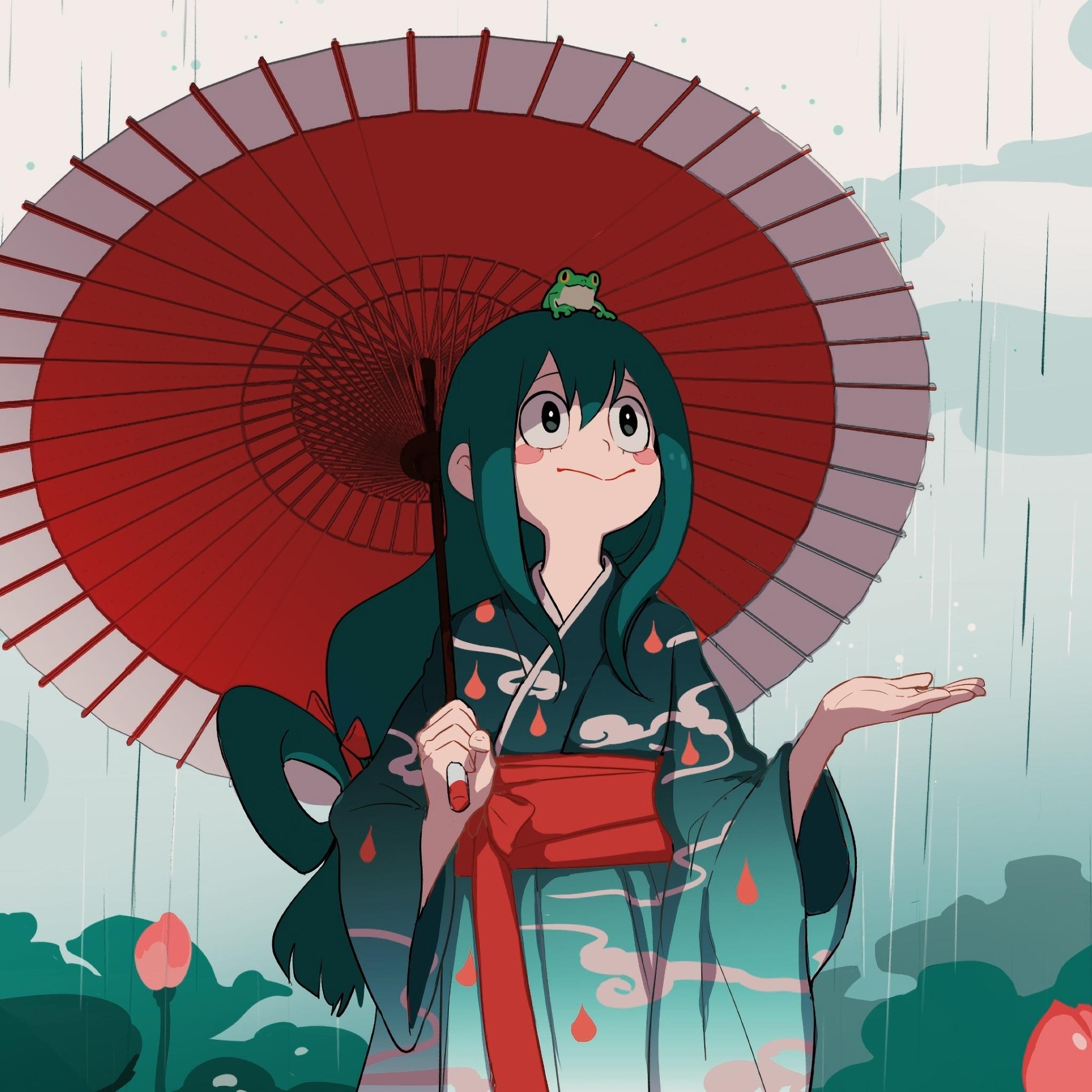 2048x2048 Tsuyu Asui Art Ipad Air Wallpaper Hd Anime 4k