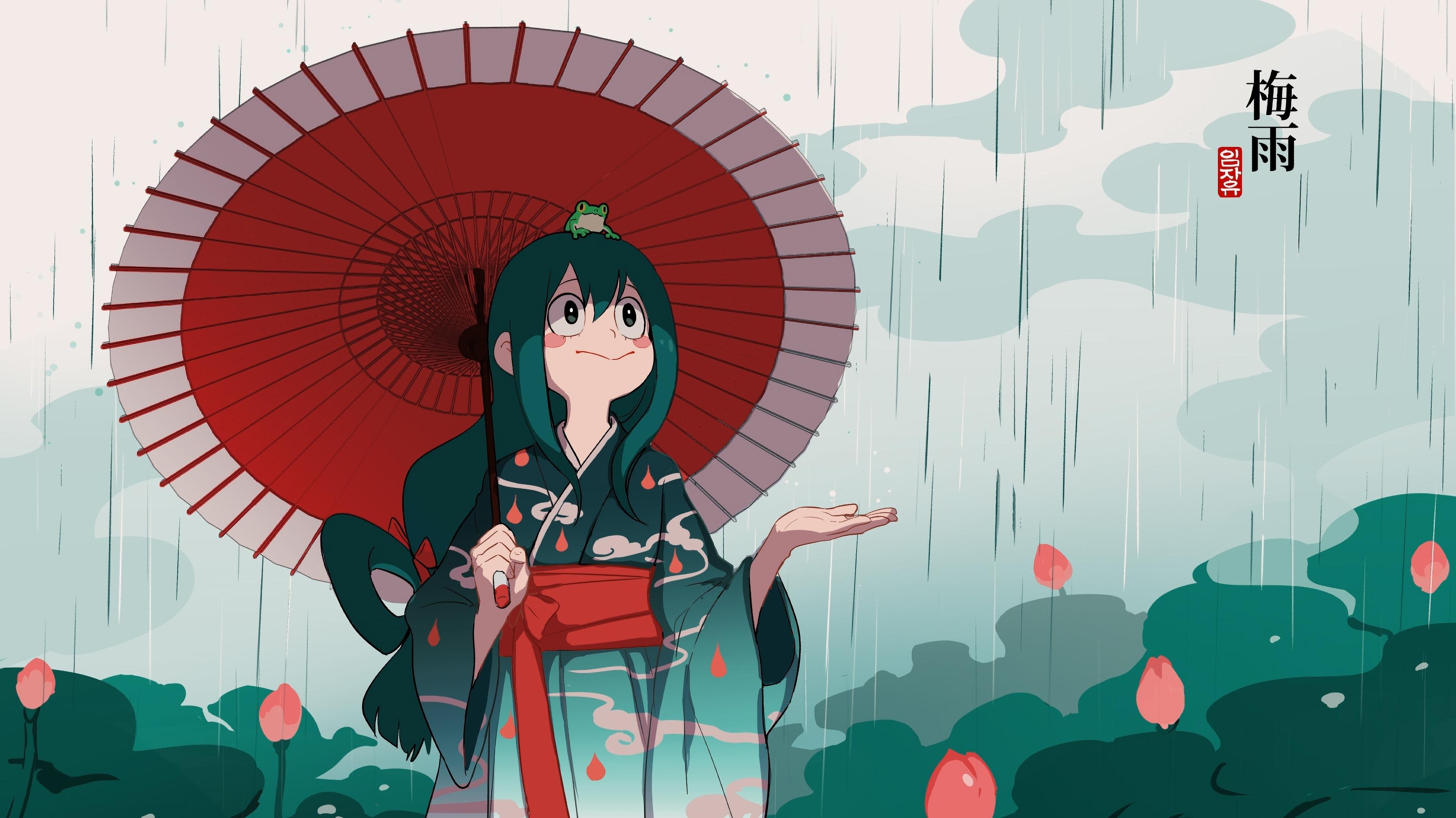 Tsuyu Asui Art Wallpaper Hd Anime 4k Wallpapers Images