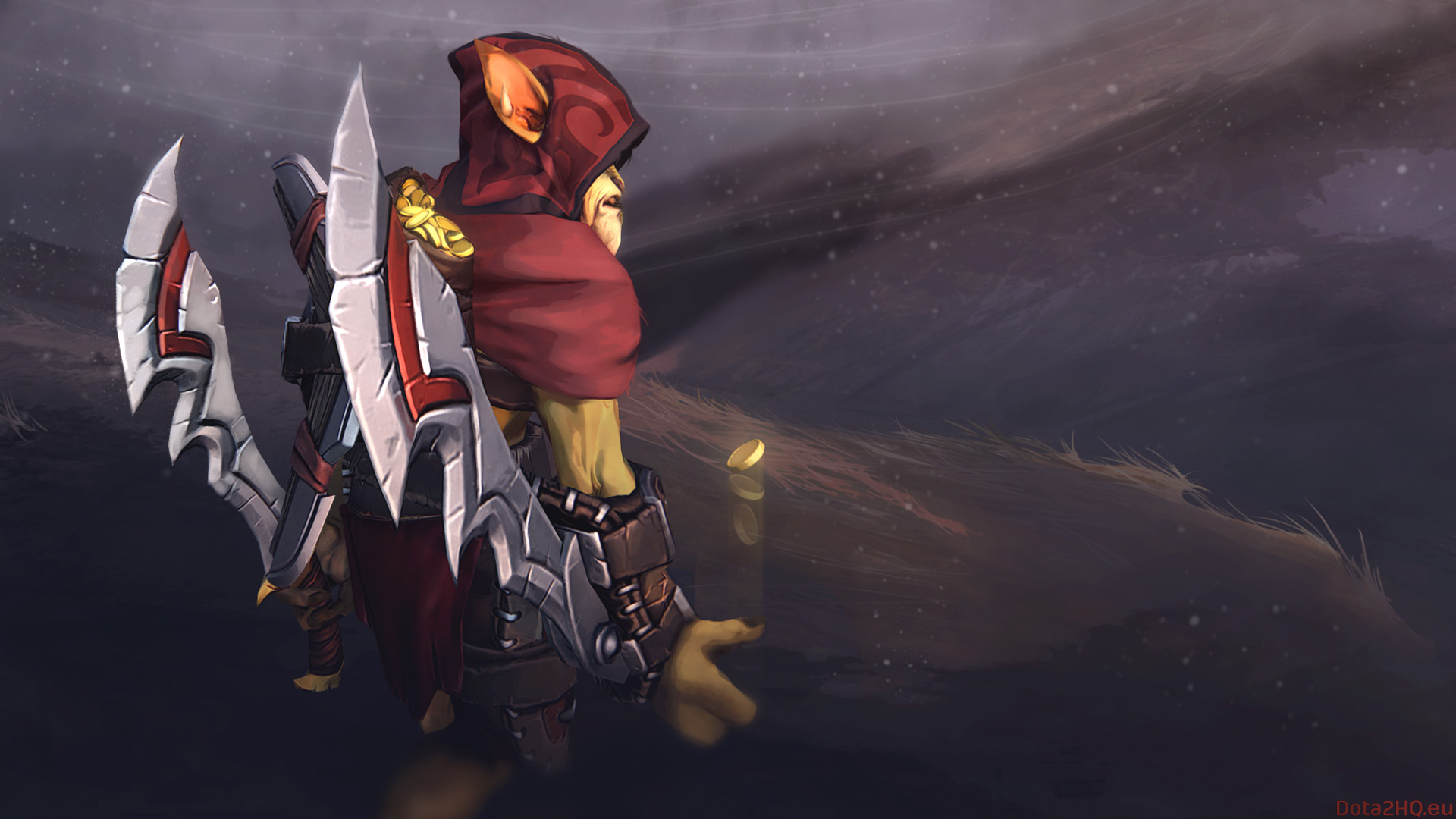 Twin Blades Assassin Dota 2 Bounty Hunter Wallpaper Hd