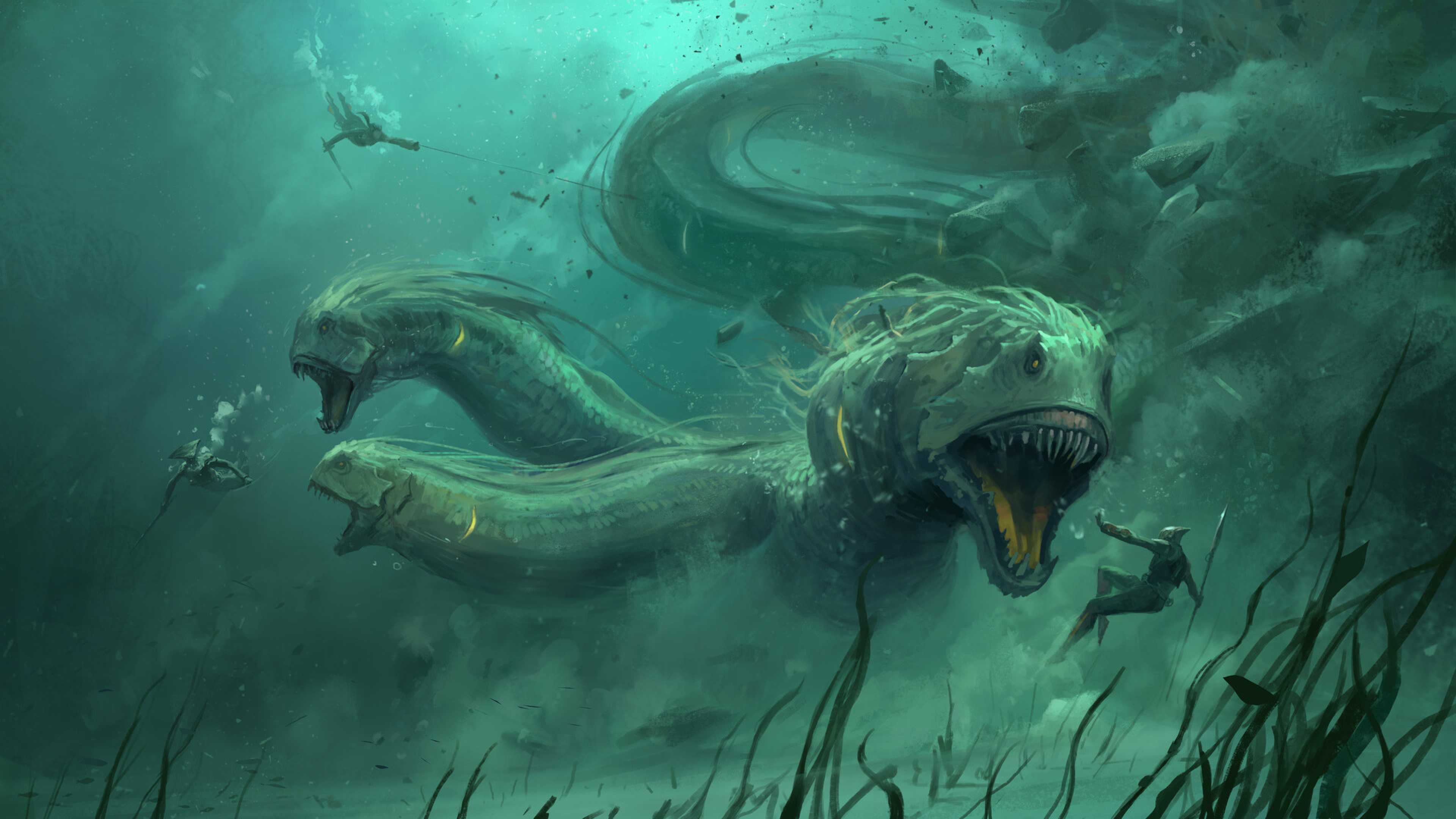 3840x2160 Underwater Creature 4k Wallpaper Hd Fantasy 4k