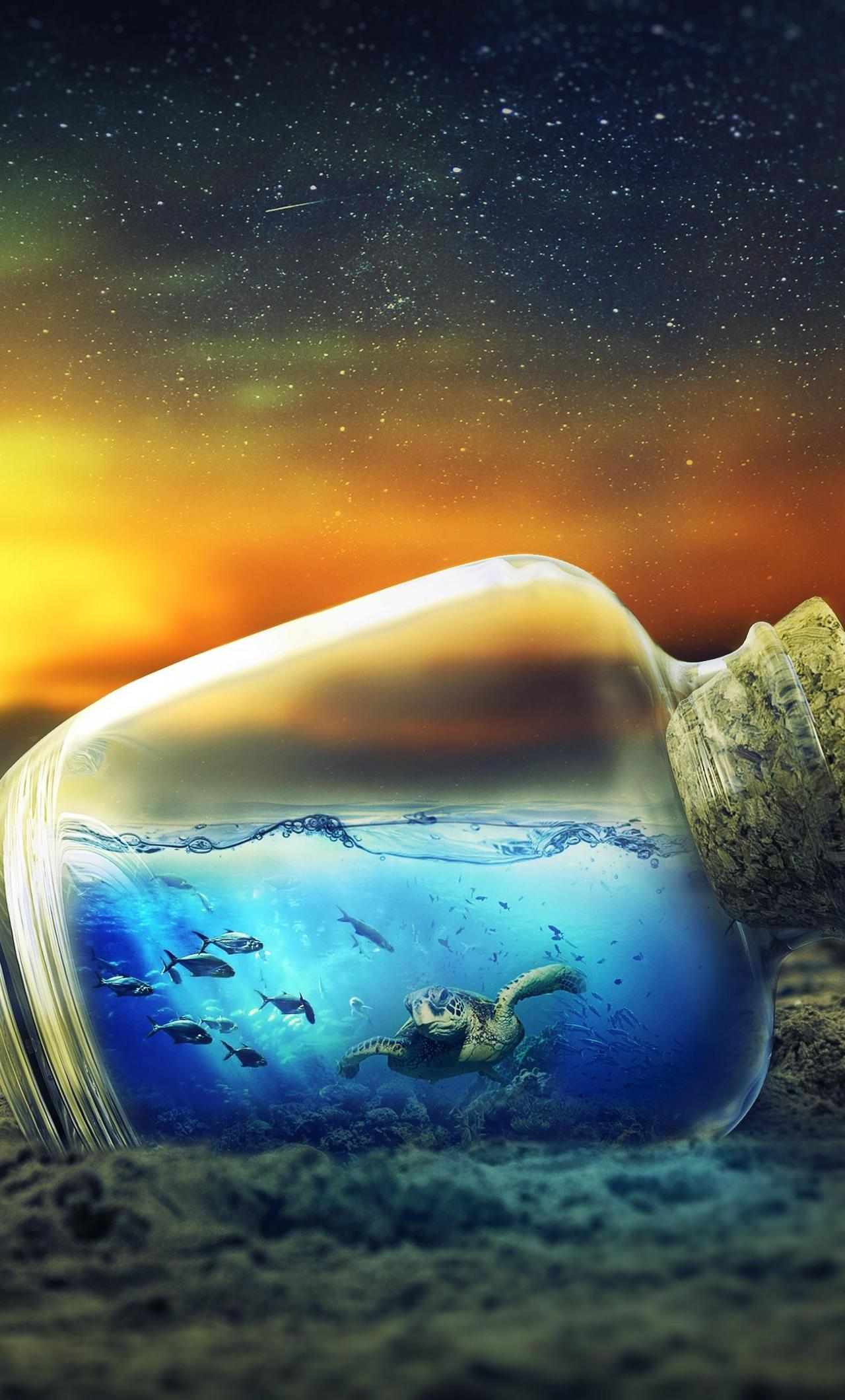 Underwater Sunset, HD 4K Wallpaper
