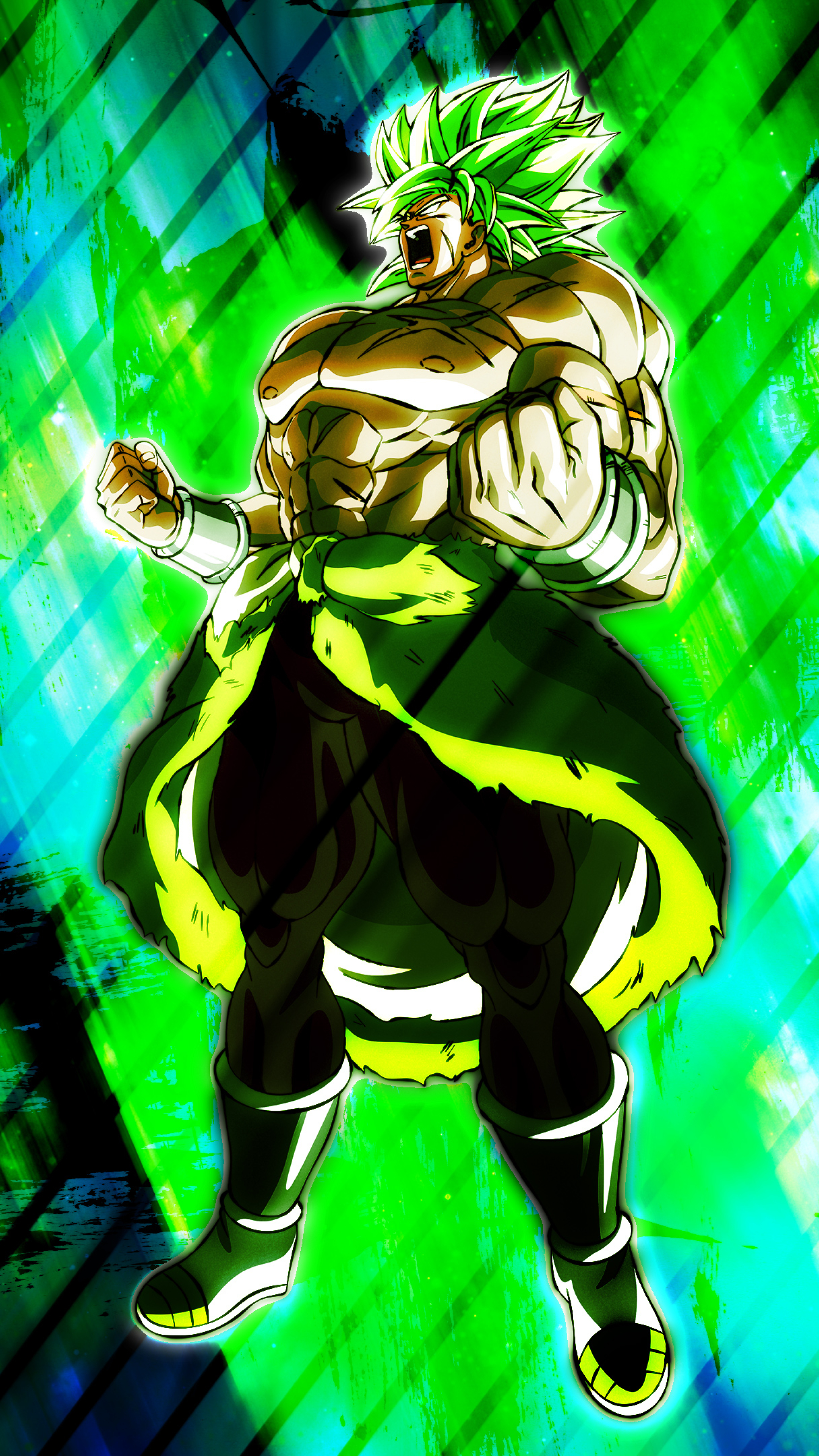Unstoppable Broly 4K Wallpaper in 2160x3840 Resolution