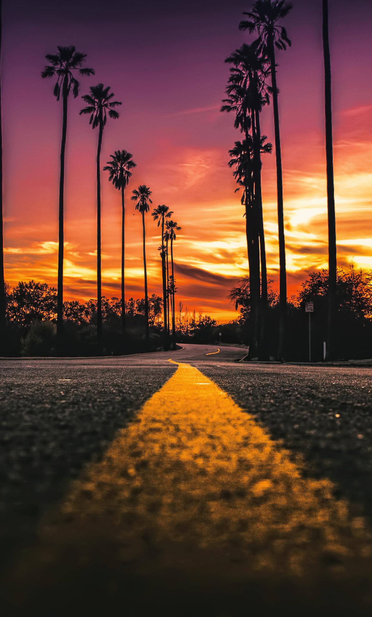 Usa California Road Sunlight Street View, HD 4K Wallpaper