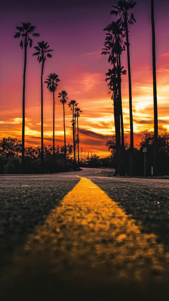 Usa california road sunlight street view hd 4k wallpaper - Cali wallpaper hd ...
