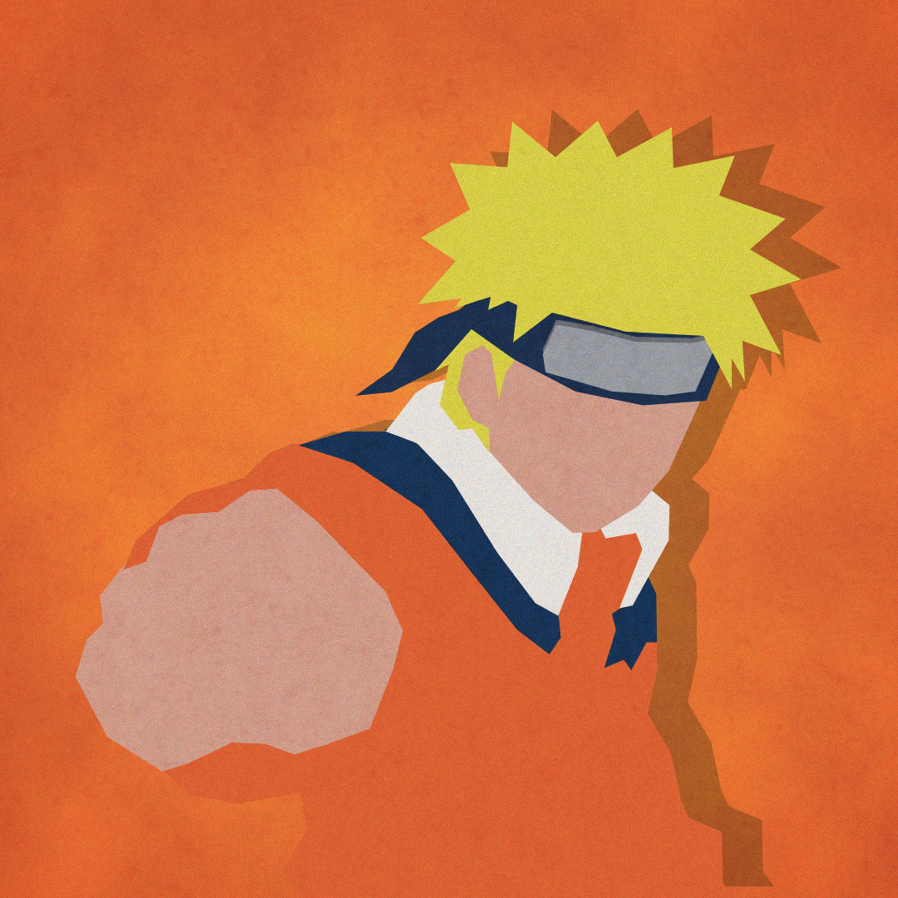 Uzumaki Naruto Shippuuden Minimalism, HD 4K Wallpaper