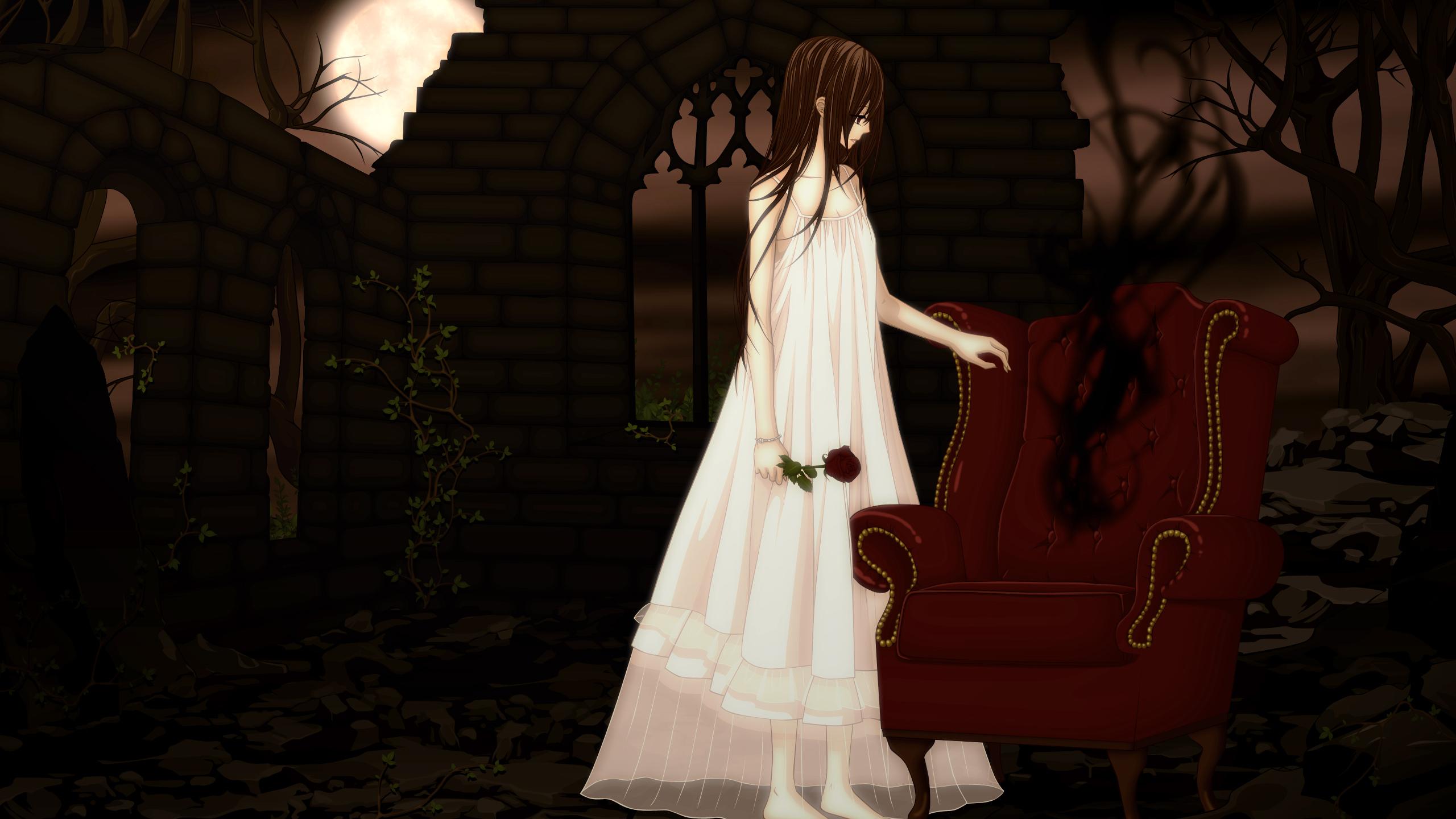 2560x1440 vampire knight, yuki cross, chair 1440P ...