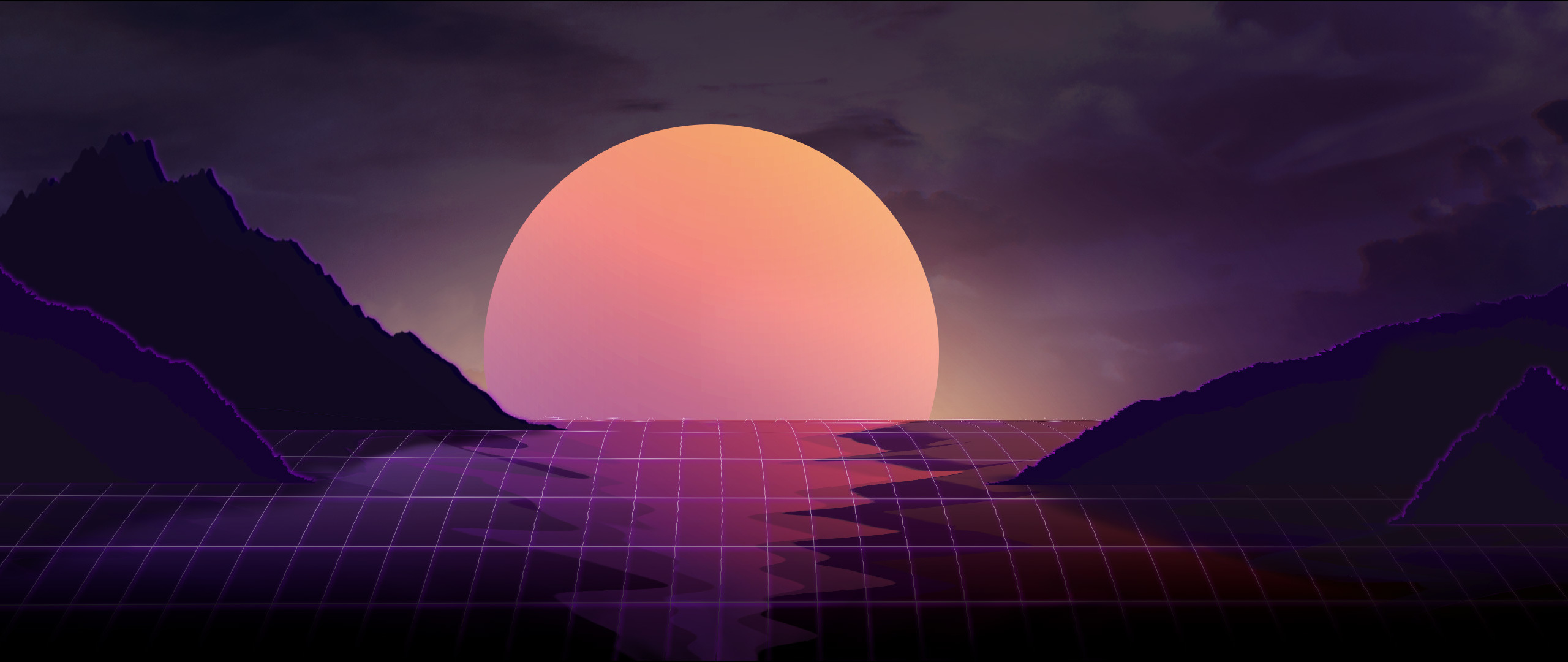 Vapor Wave Sunset Hd 4k Wallpaper