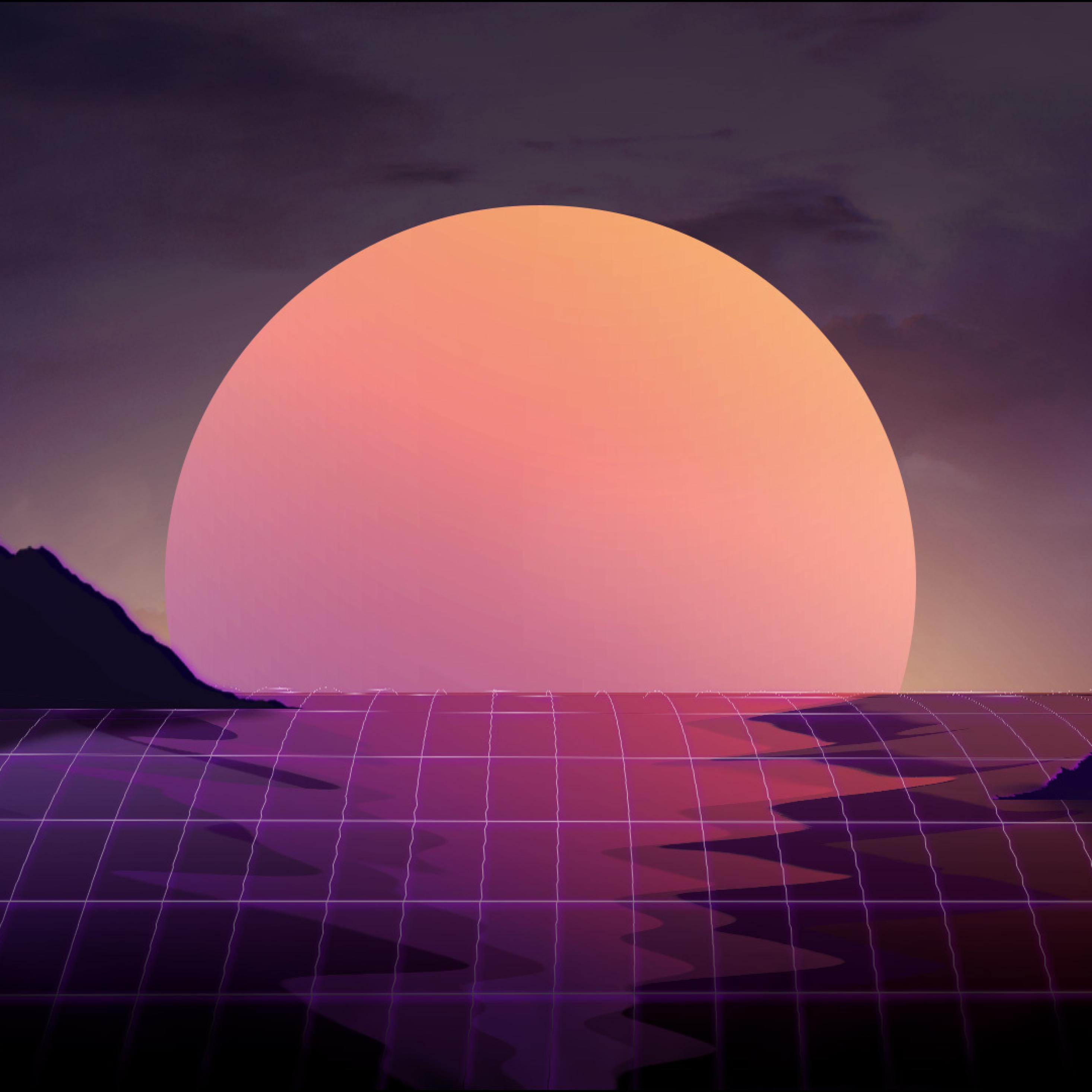 Vapor Wave Sunset, HD 4K Wallpaper
