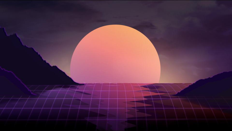 Screensavers For Samsung Galaxy S7: Vapor Wave Sunset, HD 4K Wallpaper