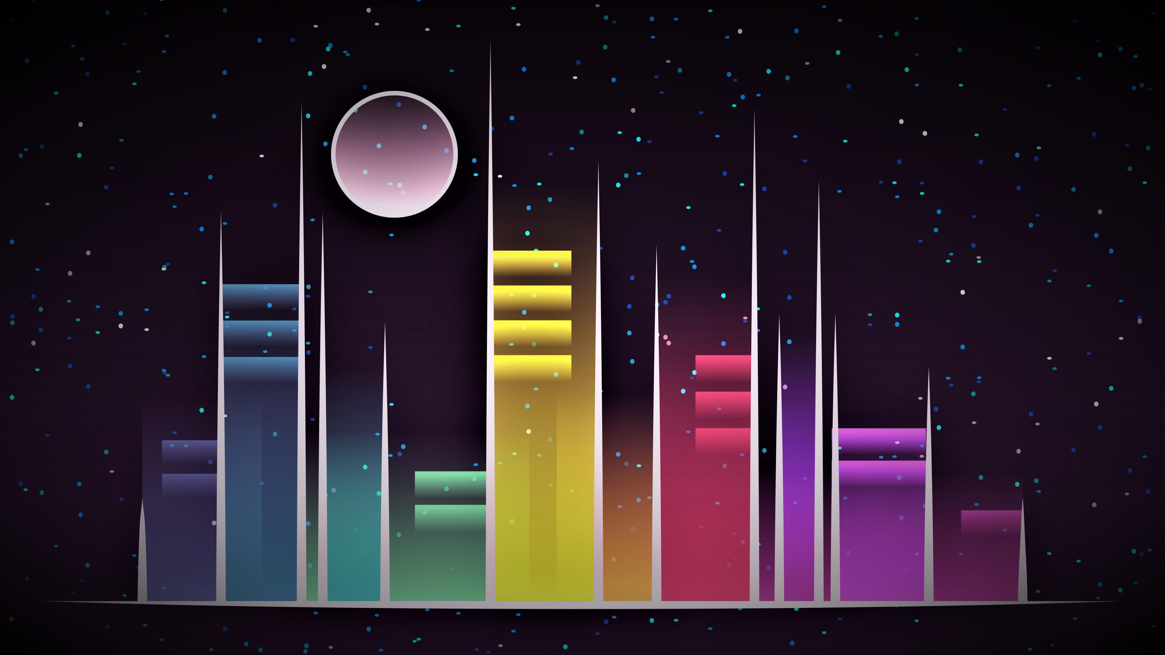3840x2160 Vector Celestial City 4K ...